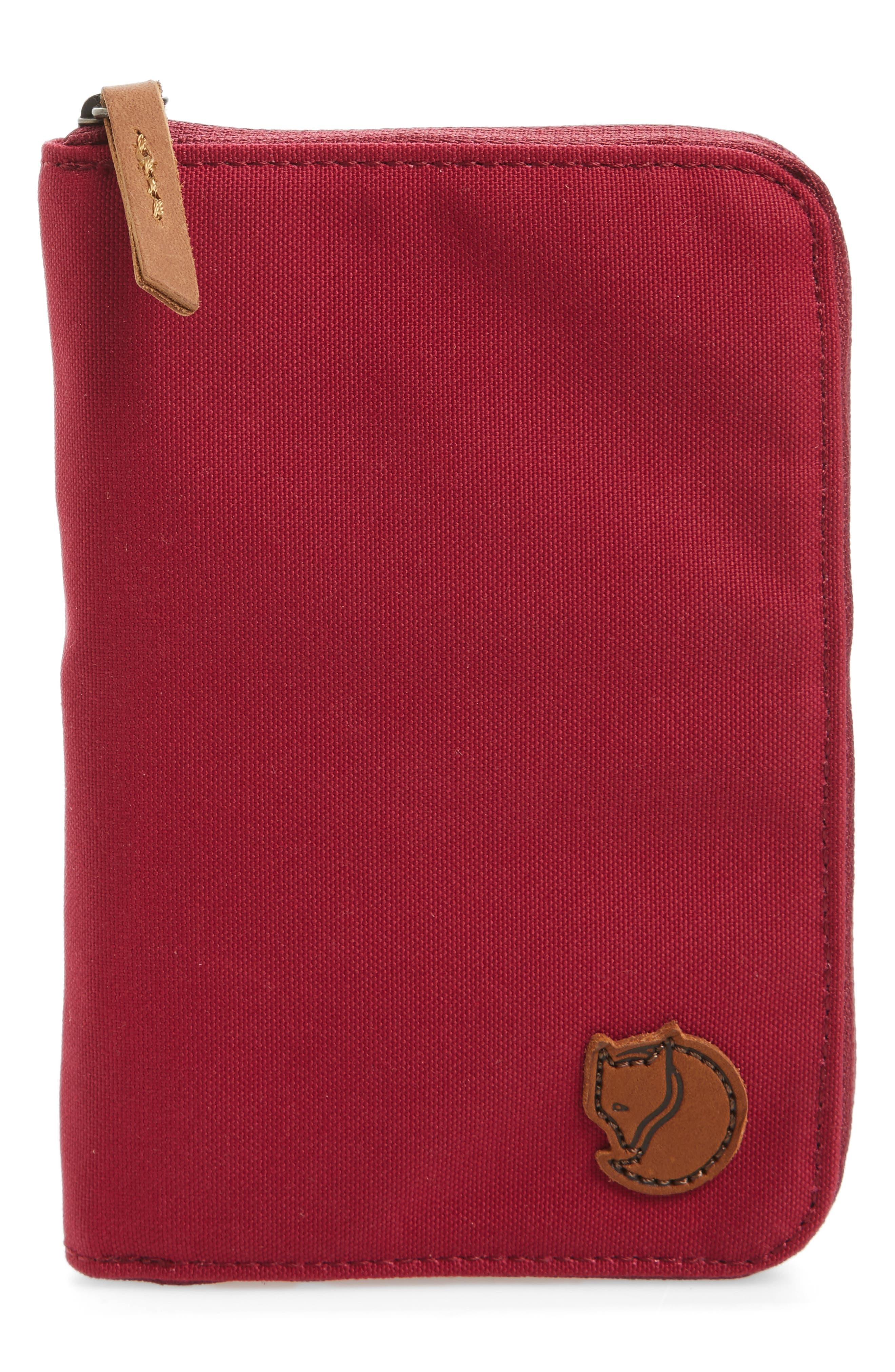 Canvas Passport Wallet,                         Main,                         color, Plum