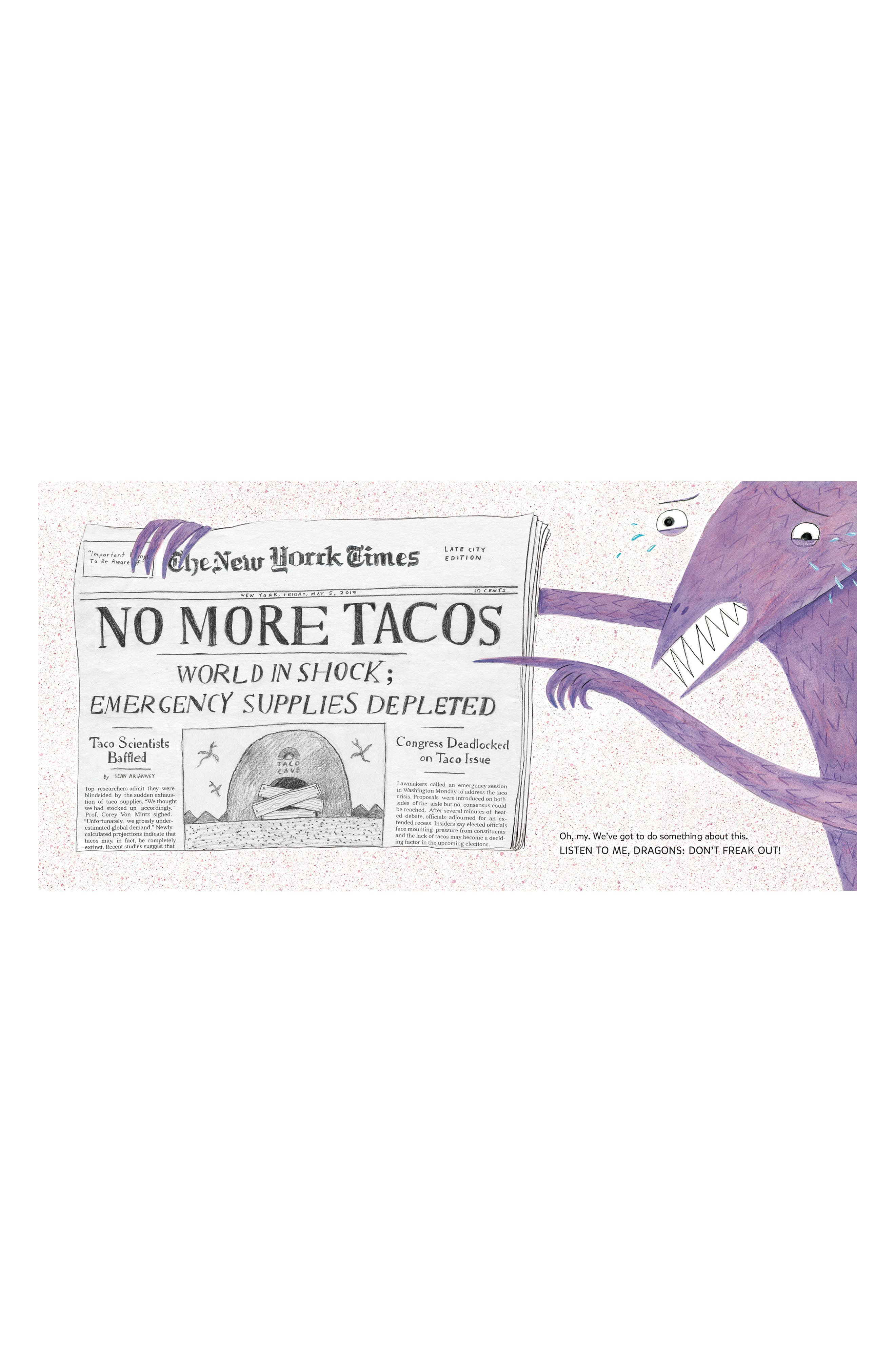 'Dragons Love Tacos 2: The Sequel' Board Book,                             Alternate thumbnail 3, color,                             White