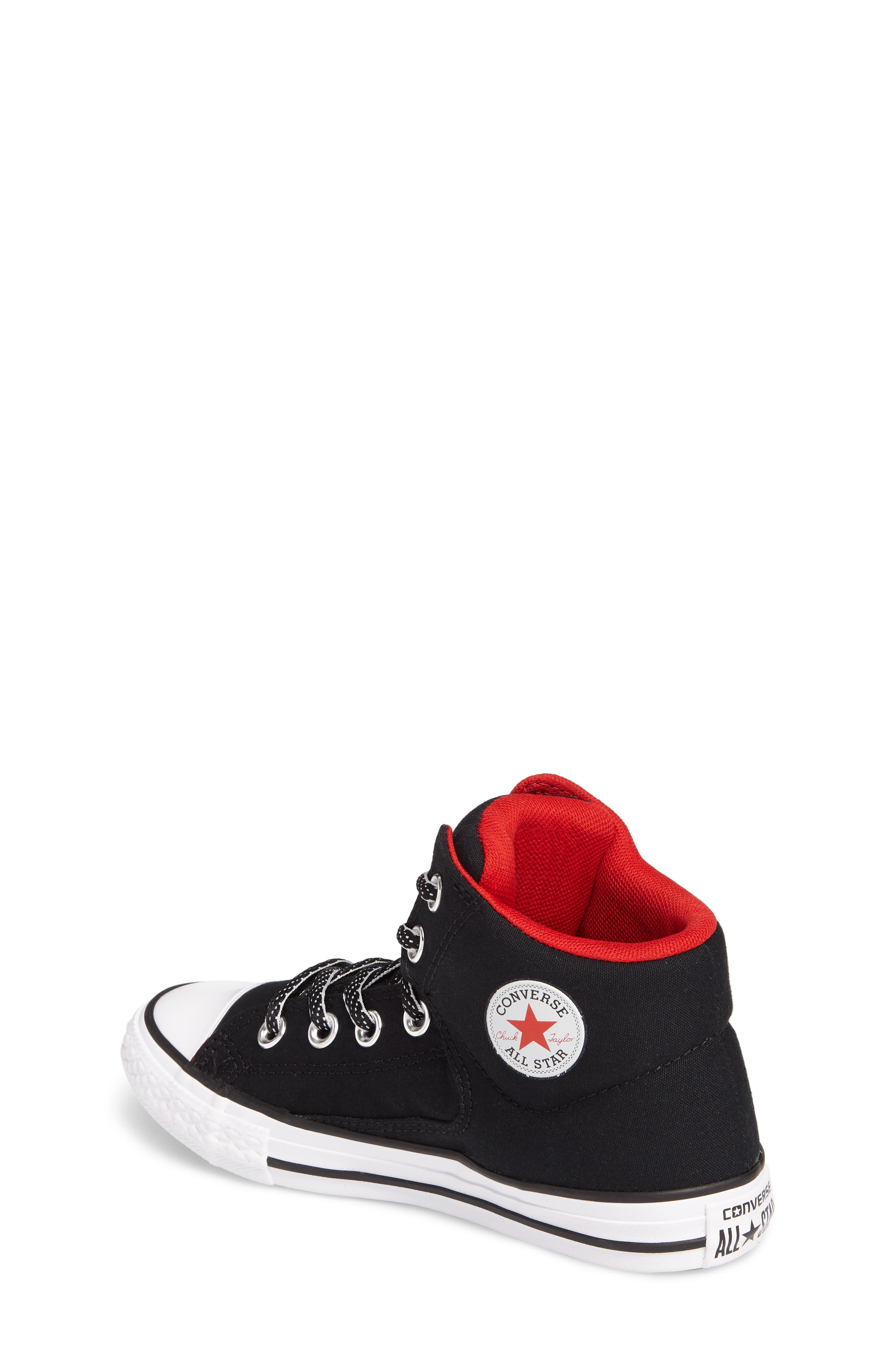 Chuck Taylor<sup>®</sup> All Star<sup>®</sup> High Street High Top Sneaker,                             Alternate thumbnail 2, color,                             Black Canvas