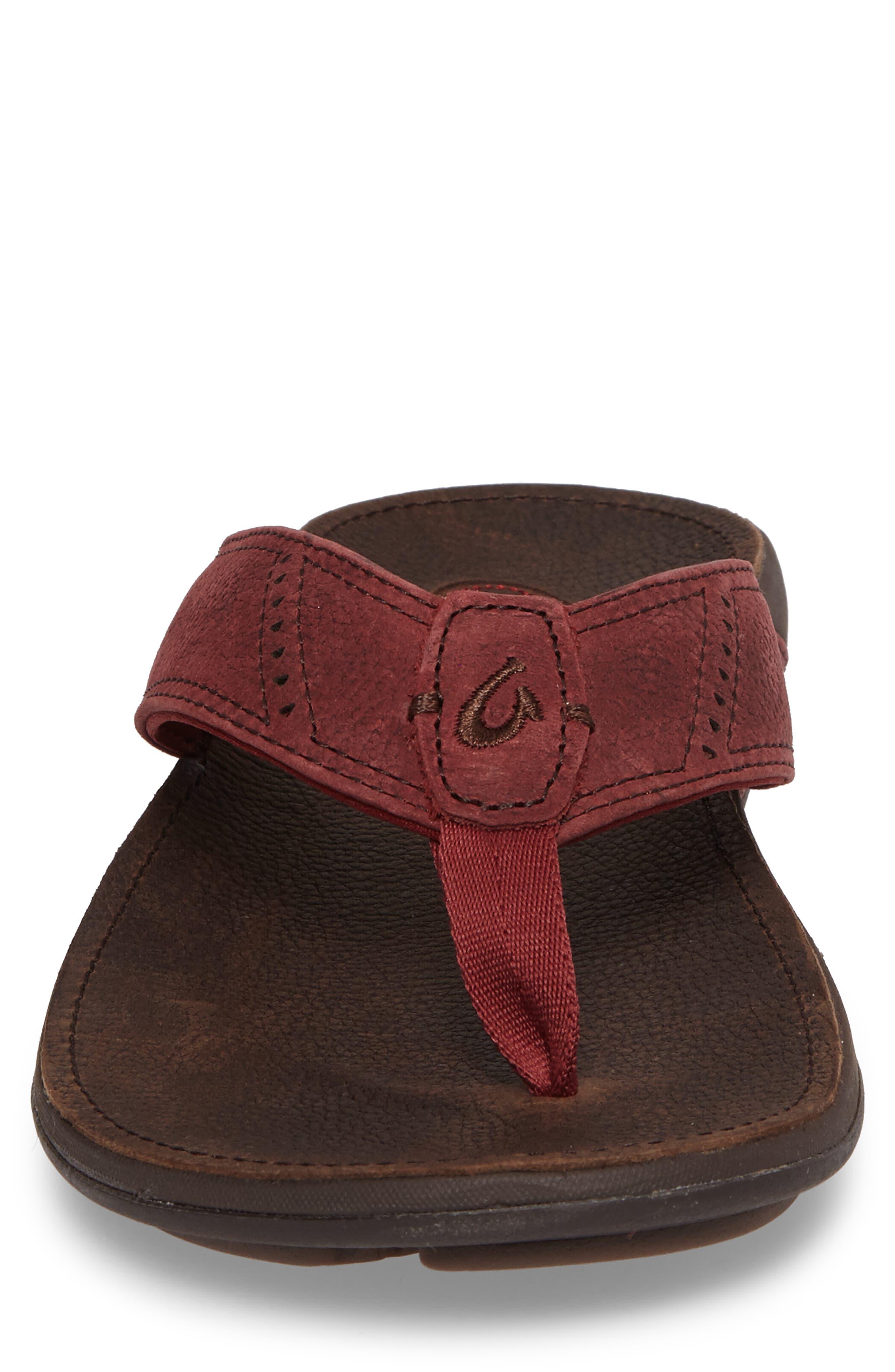 Alternate Image 4  - OluKai 'Nui' Leather Flip Flop (Men)
