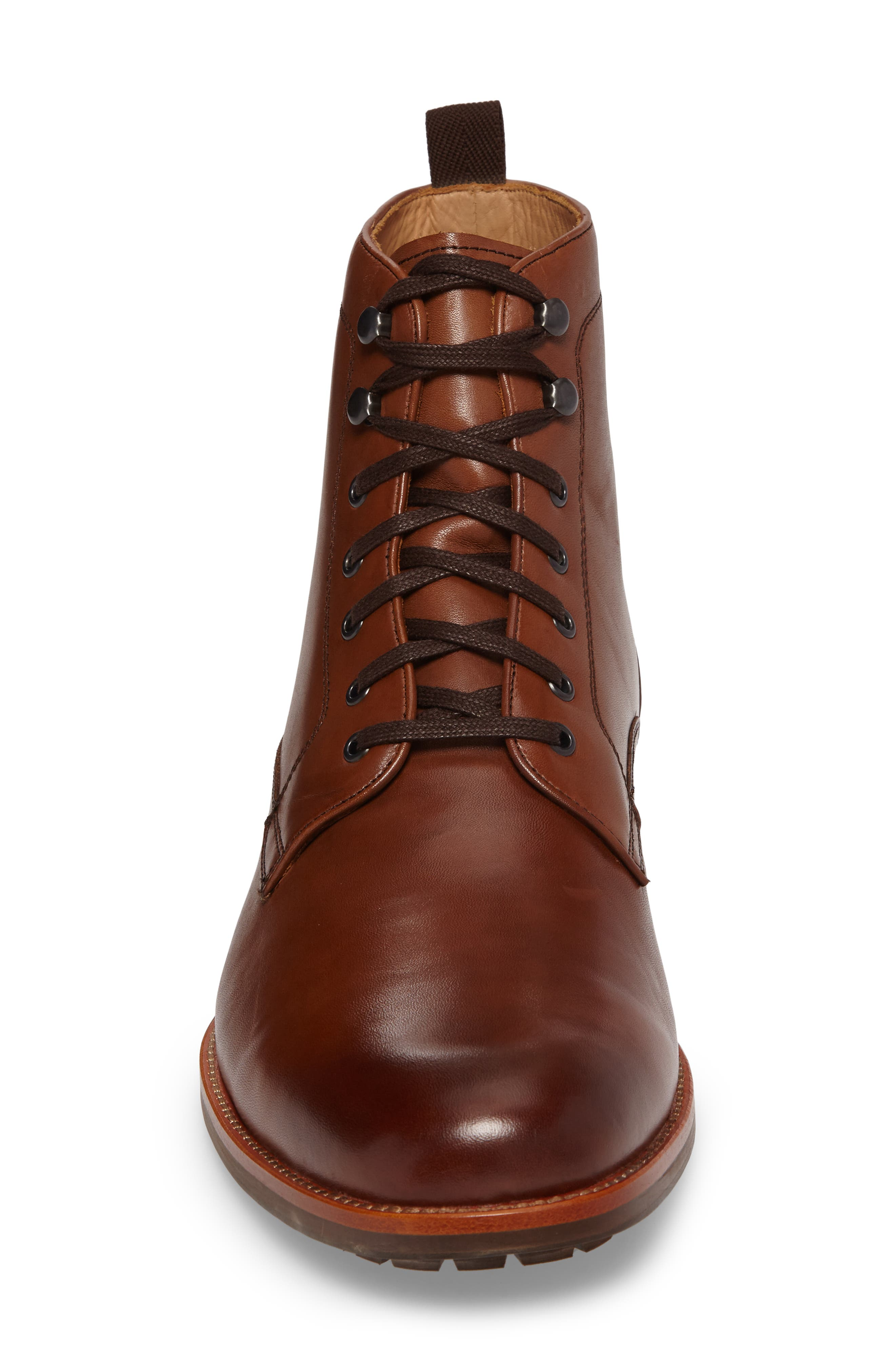 Axeford Plain Toe Boot,                             Alternate thumbnail 4, color,                             Luggage Leather