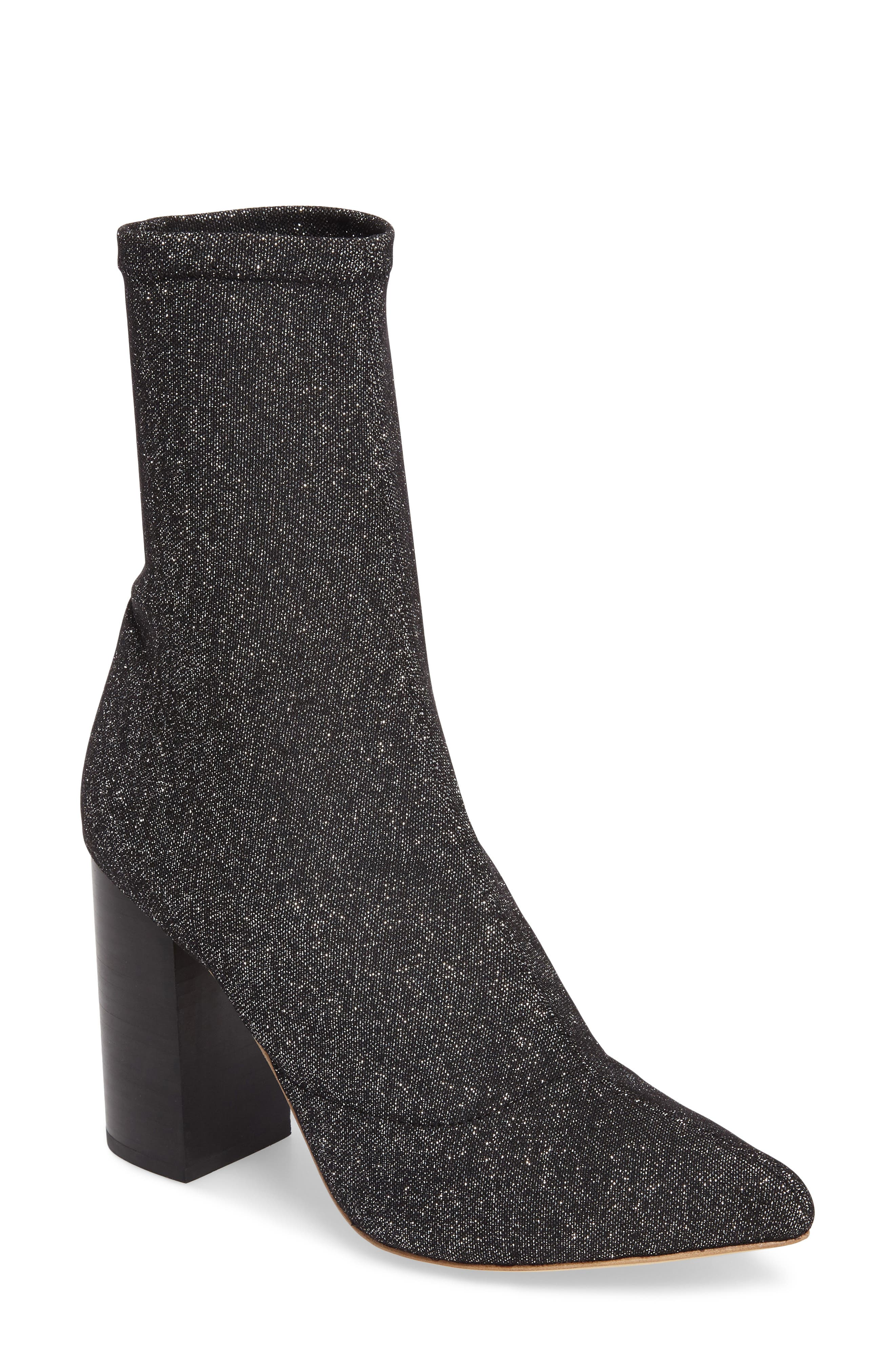 Fable Bootie,                         Main,                         color, Black Star Glitter