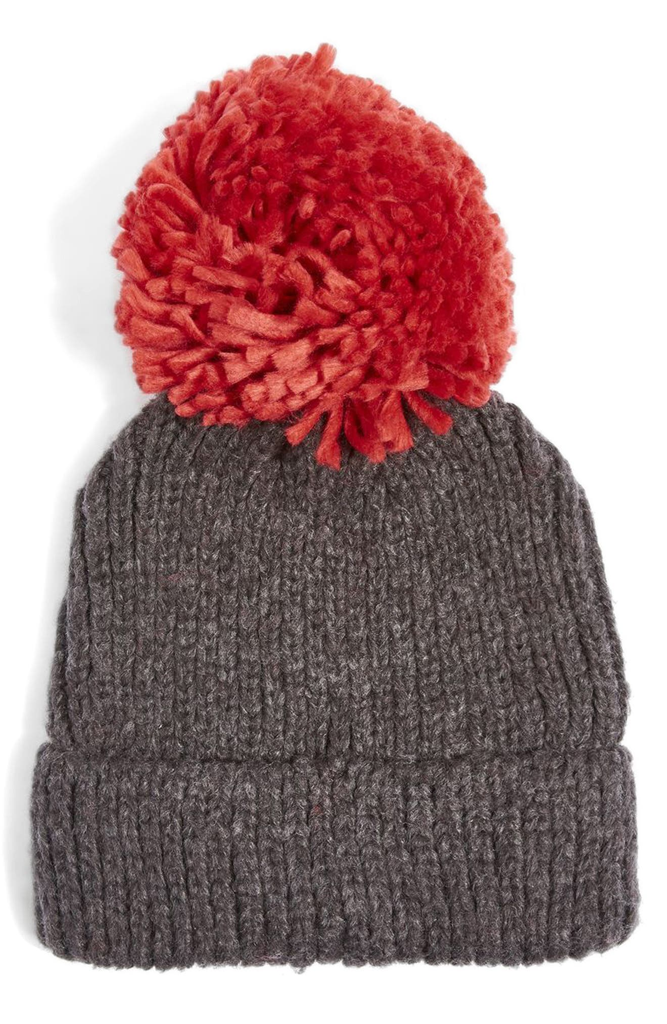 Alternate Image 1 Selected - Topshop Pompom Beanie