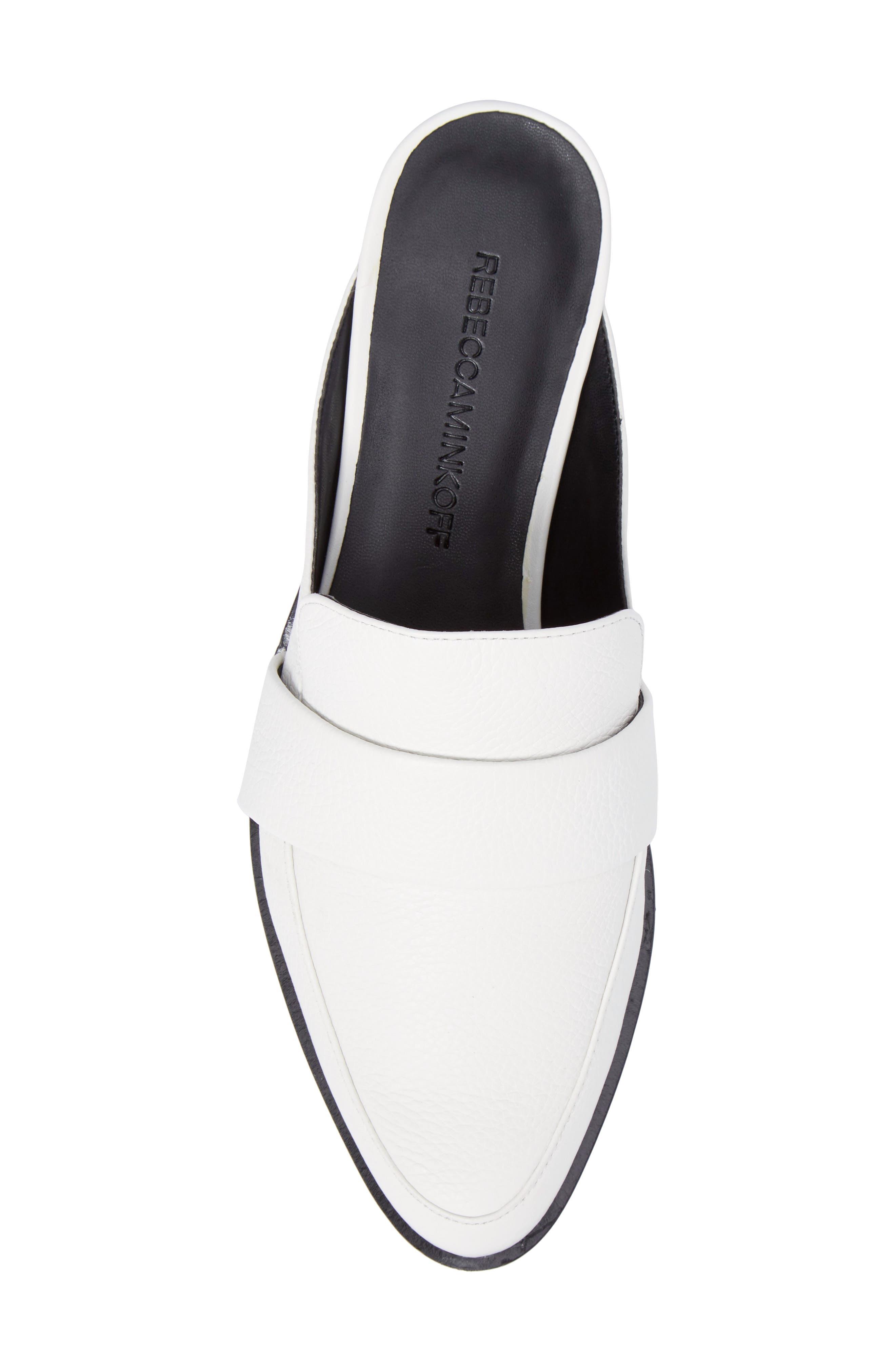 'Mika' Mule,                             Alternate thumbnail 6, color,                             White Leather