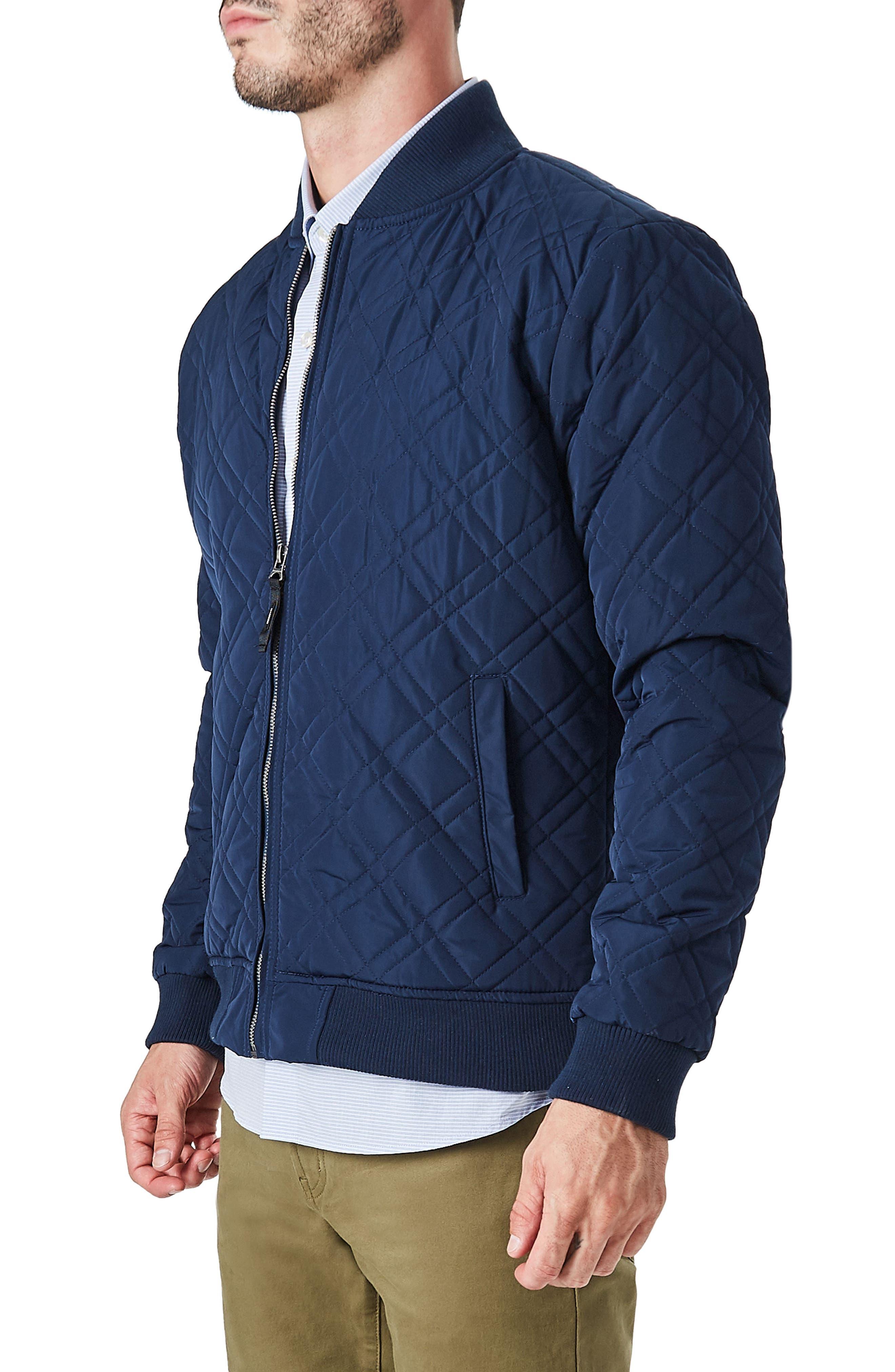Arca Quilt Jacket,                             Alternate thumbnail 4, color,                             Navy
