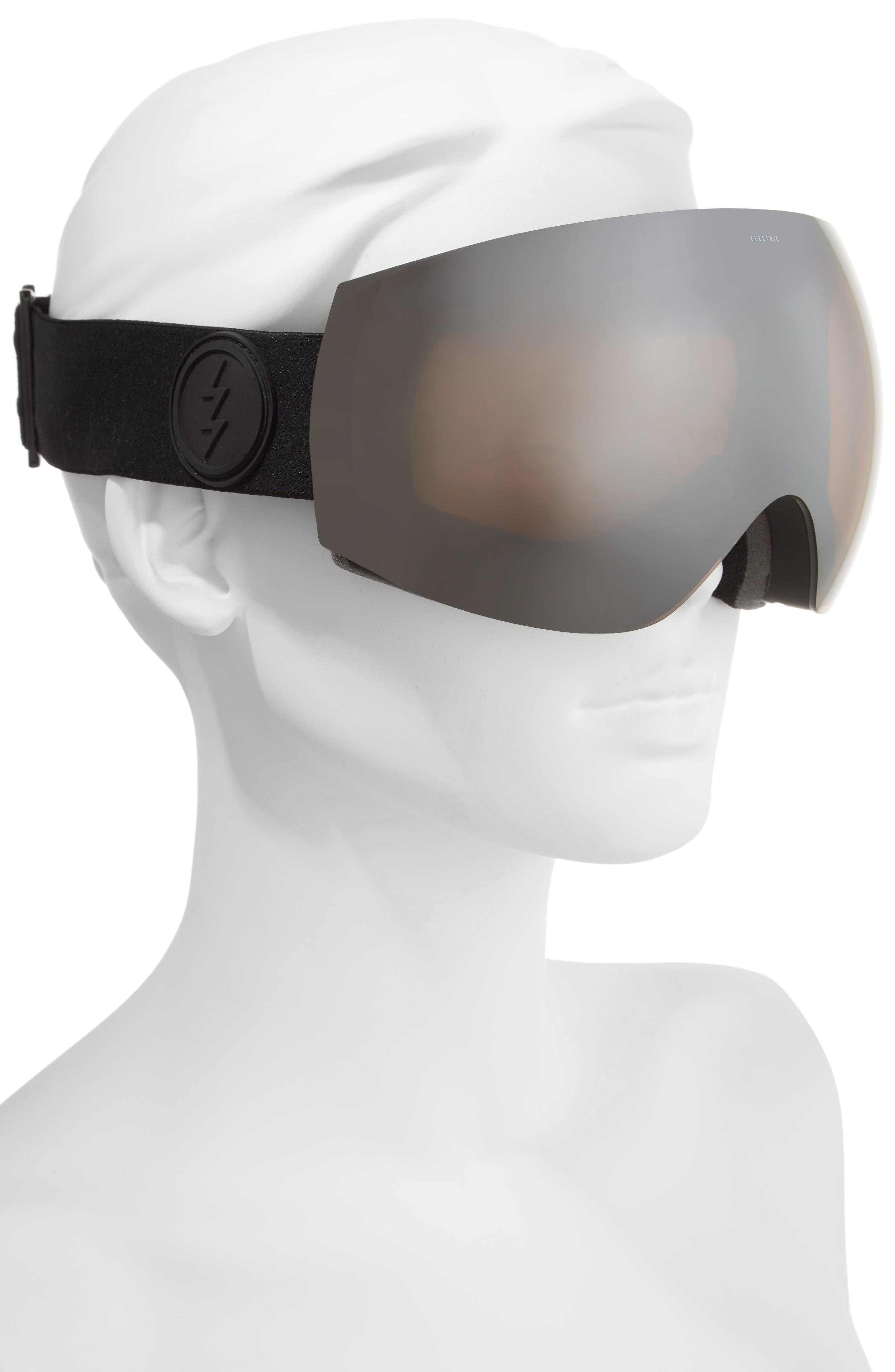 EG3 Snow Goggles,                             Alternate thumbnail 2, color,                             Matte Black/ Silver Chrome