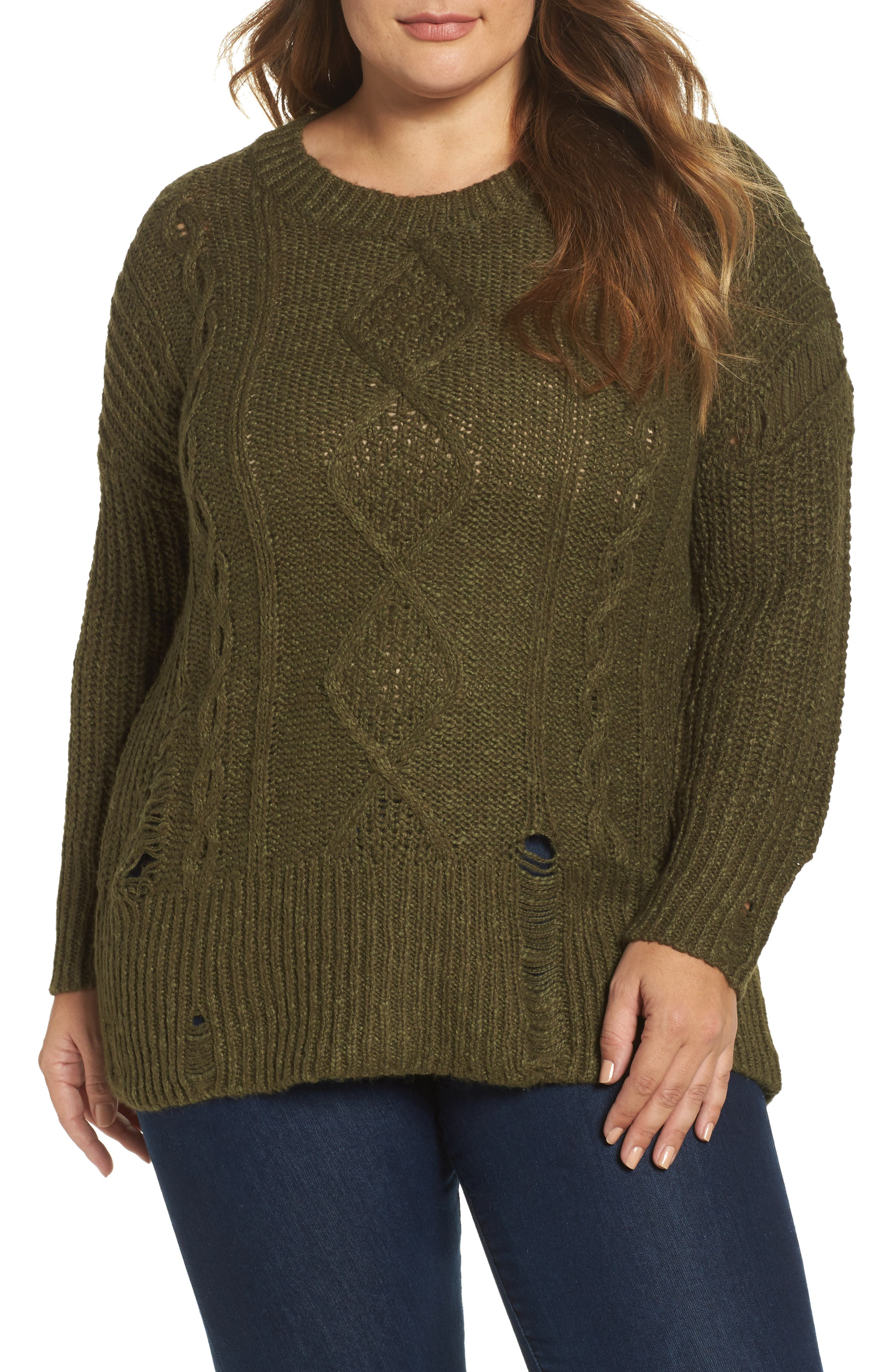 Alternate Image 1 Selected - Lucky Brand Portland Pullover (Plus Size)