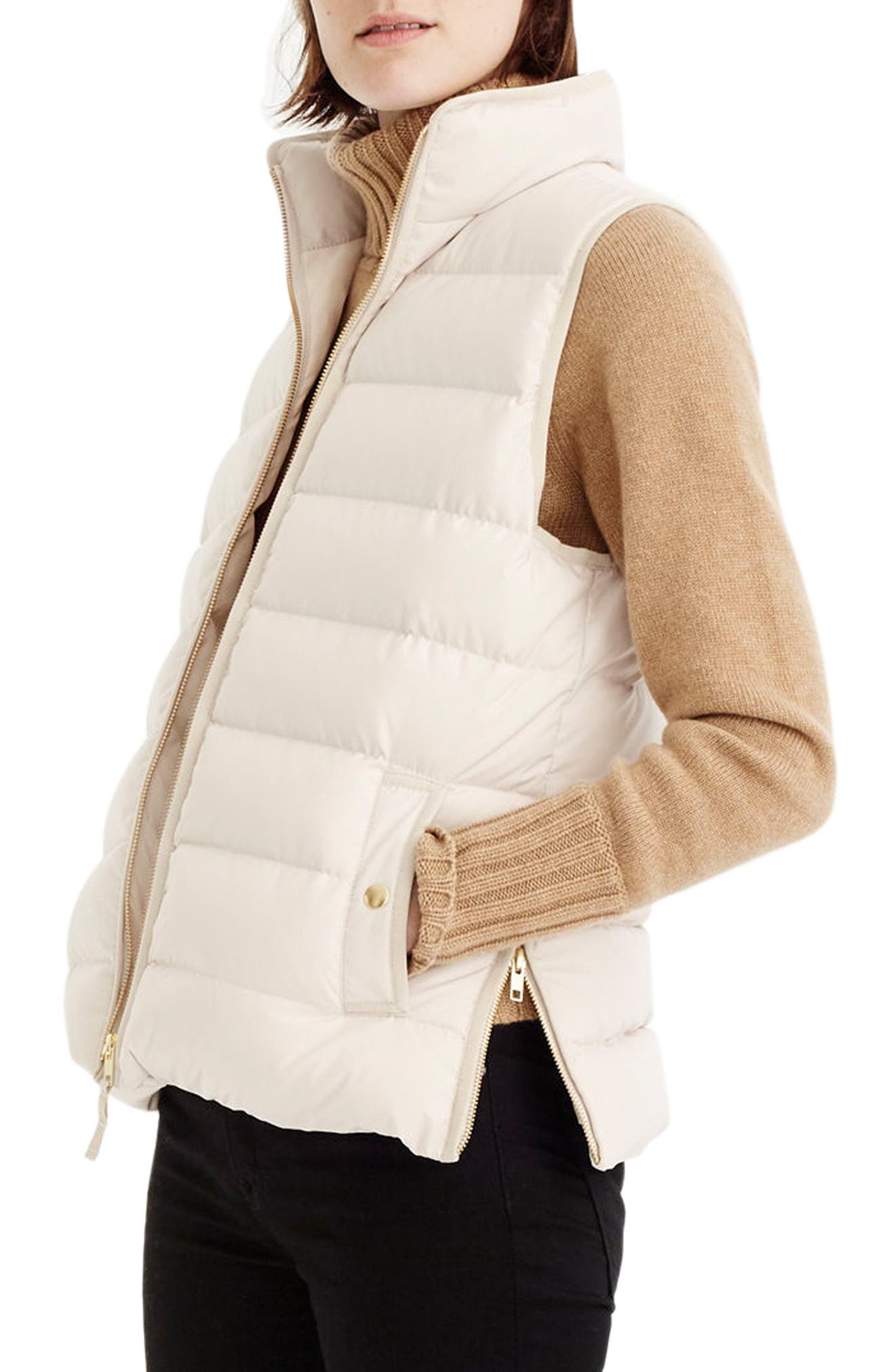 Anthem Down & Feather Fill Puffer Vest,                             Alternate thumbnail 3, color,                             Bleached Sand