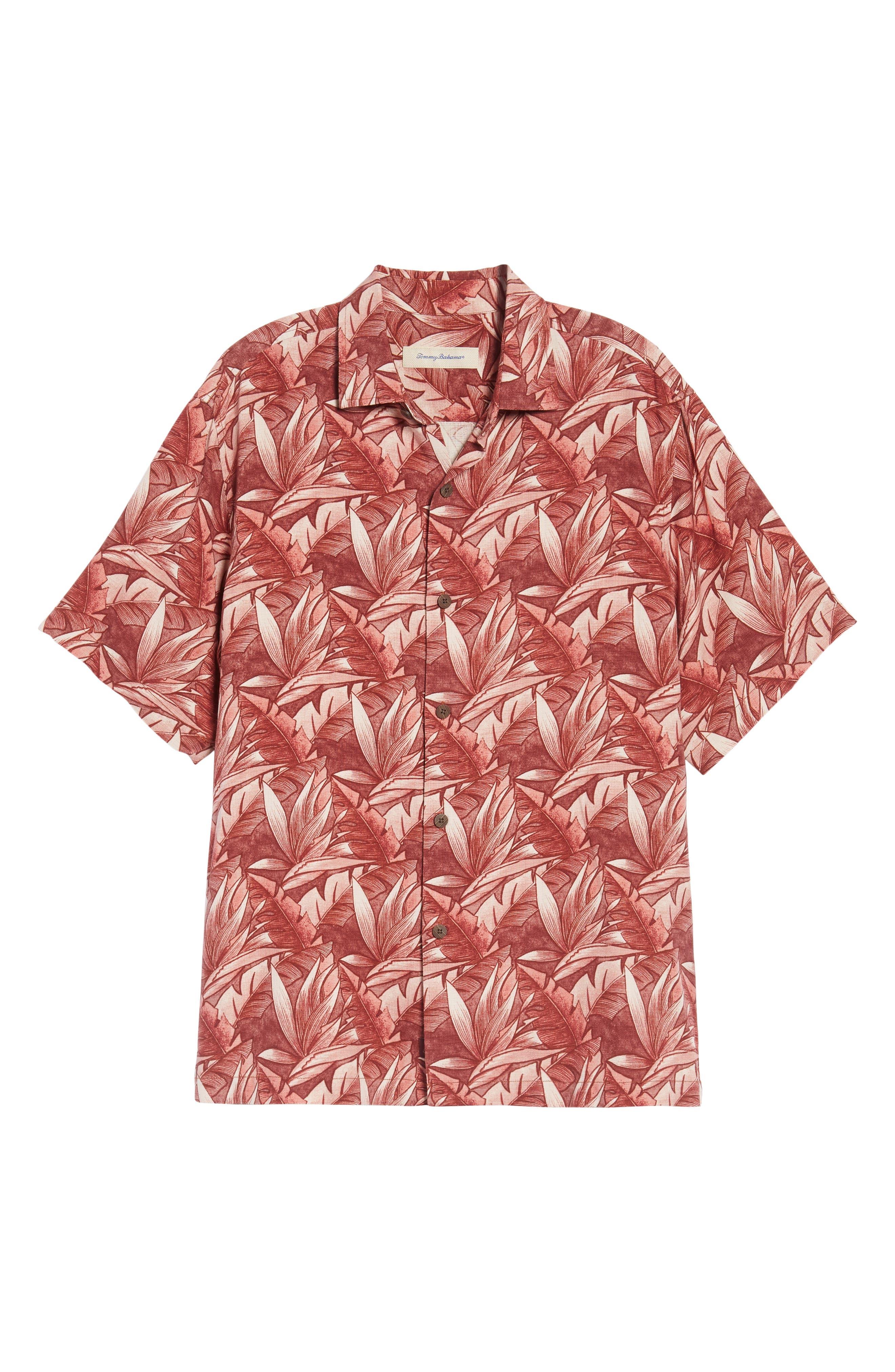 Alternate Image 6  - Tommy Bahama Jema Fronds Silk Camp Shirt