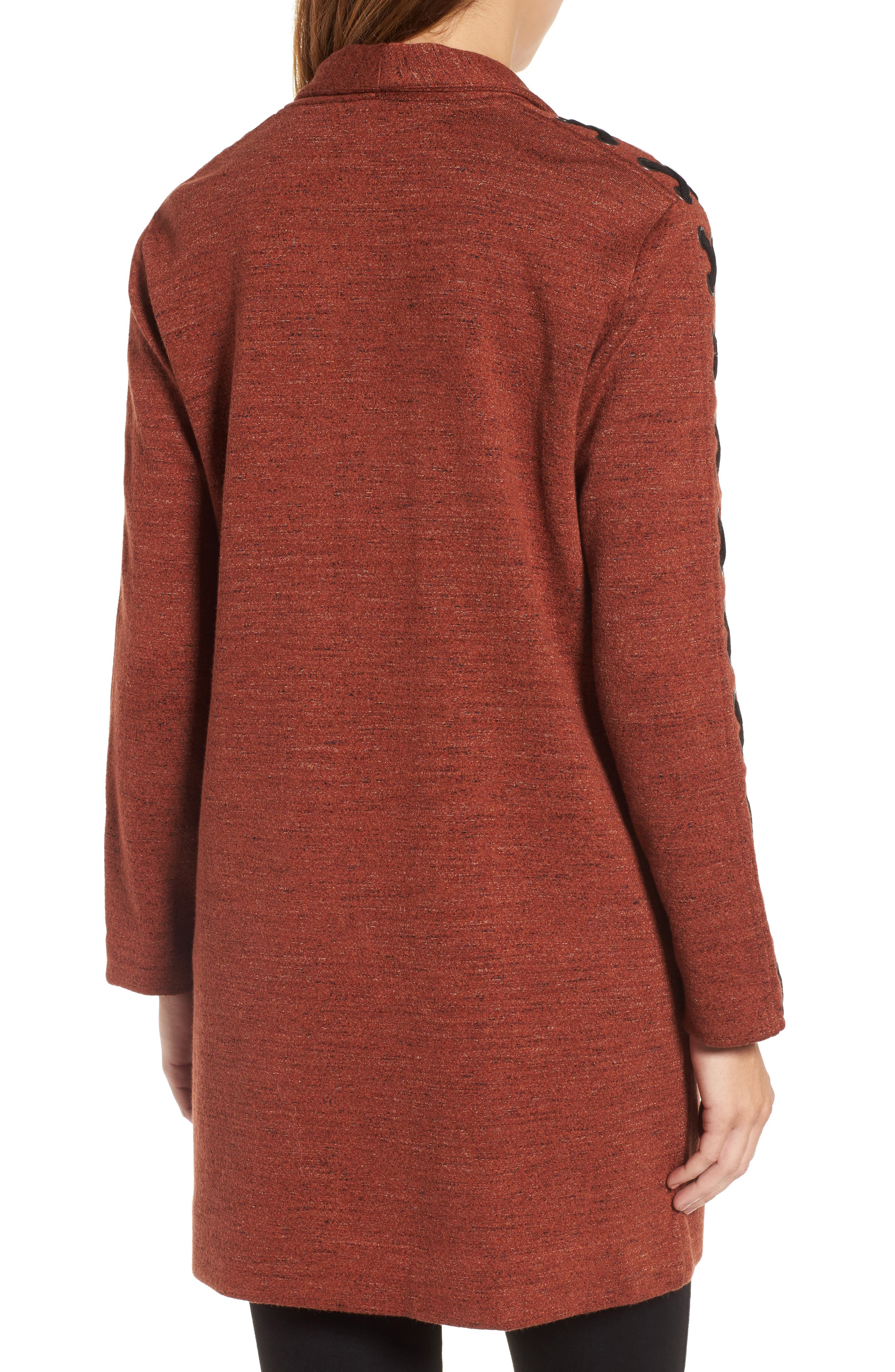 Alternate Image 2  - NIC+ZOE Crisscross Detail Knit Jacket (Regular & Petite)