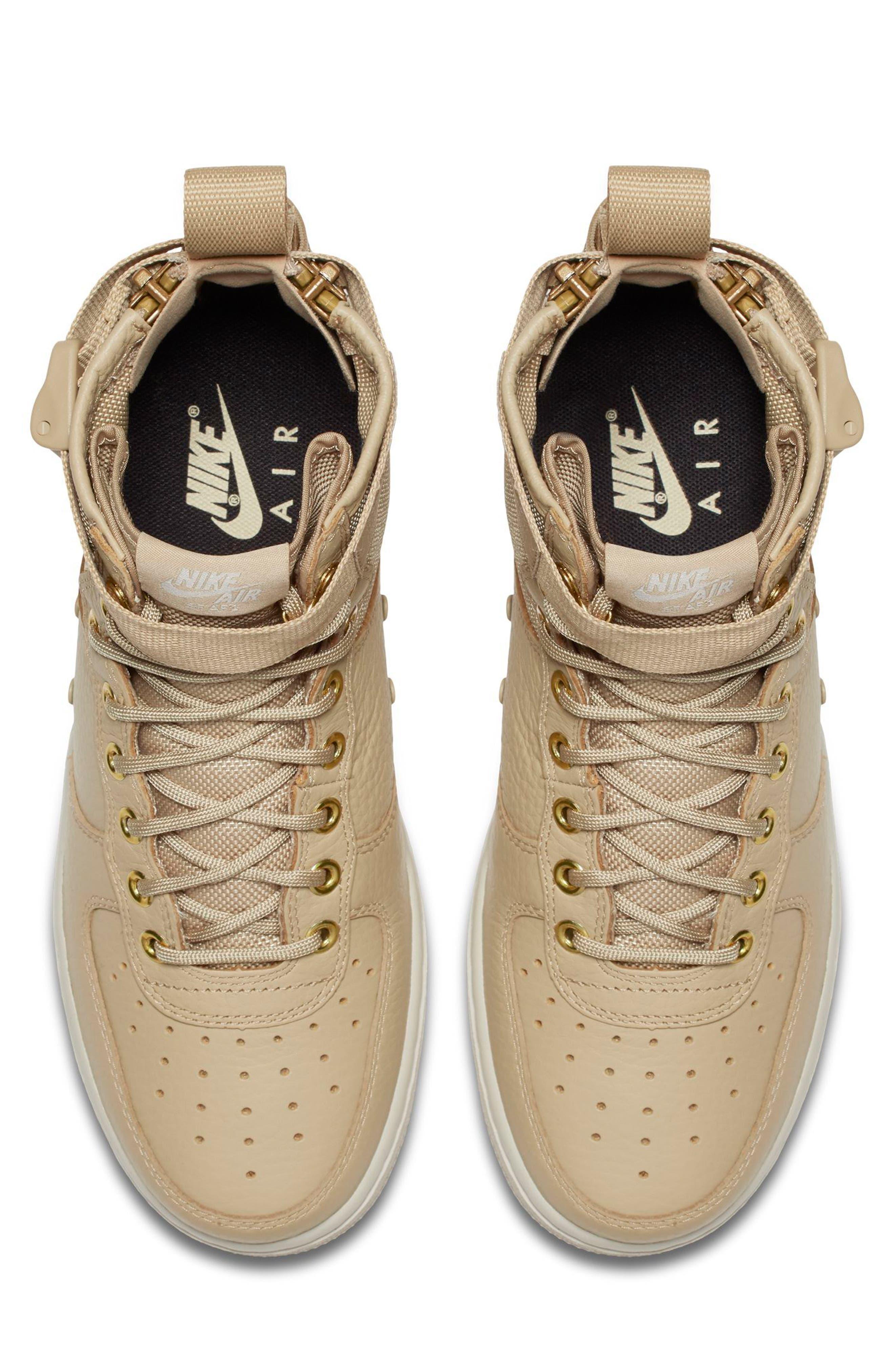 SF Air Force 1 Mid Sneaker,                             Alternate thumbnail 4, color,                             Mushroom/ Mushroom/ Light Bone