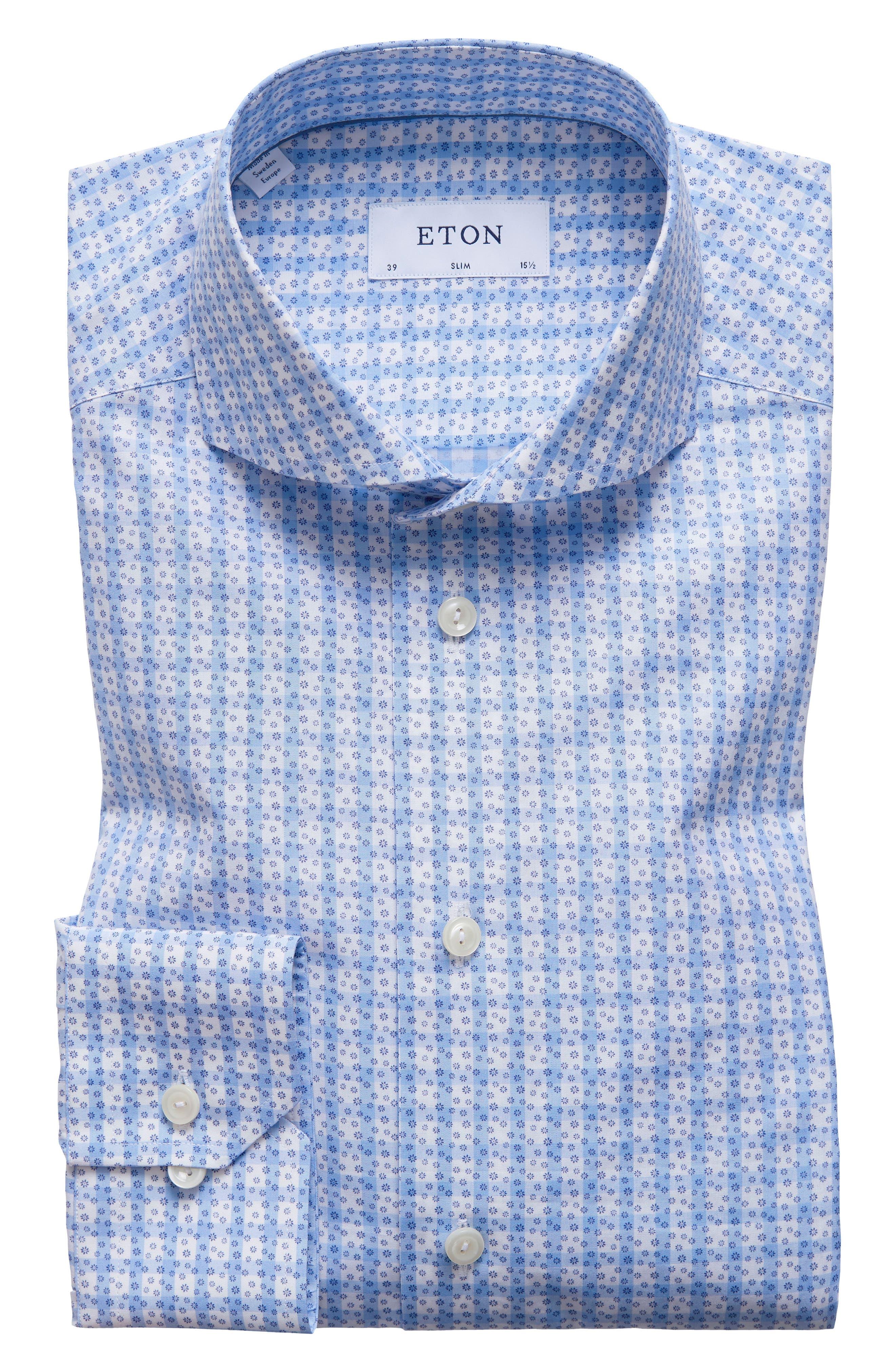 Main Image - Eton Slim Fit Geometric Dress Shirt