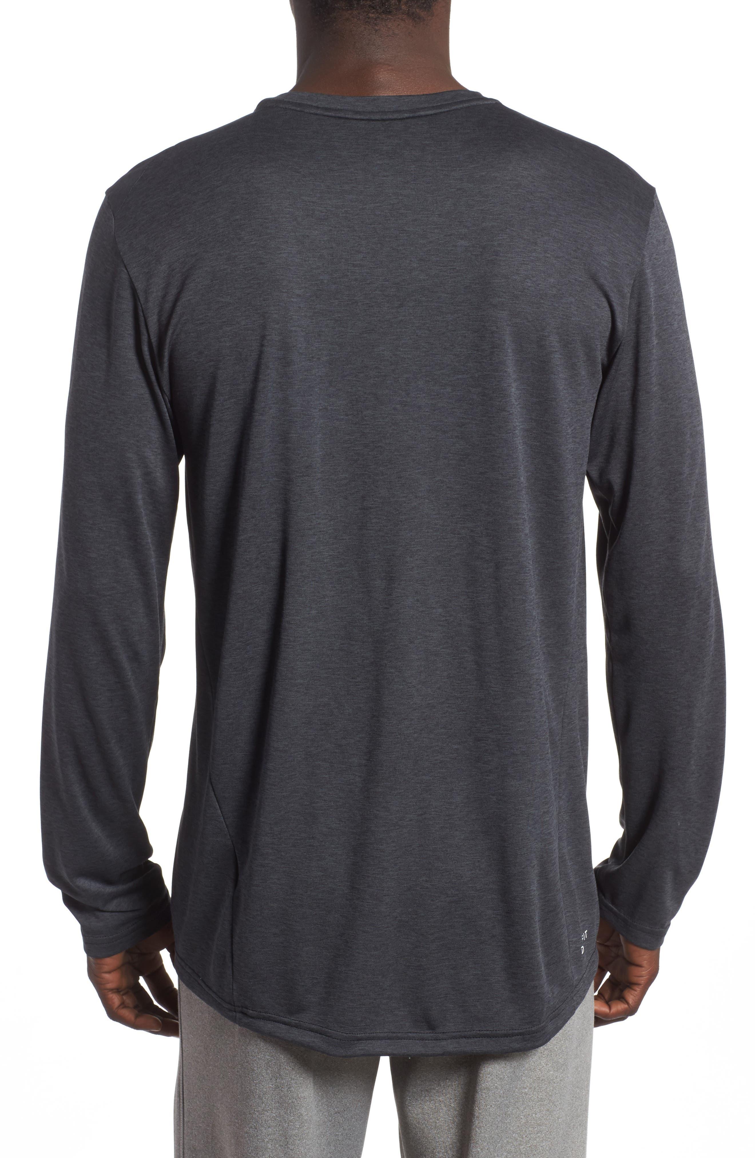 Long Sleeve Training T-Shirt,                             Alternate thumbnail 2, color,                             Black/ Anthracite/ Hematite