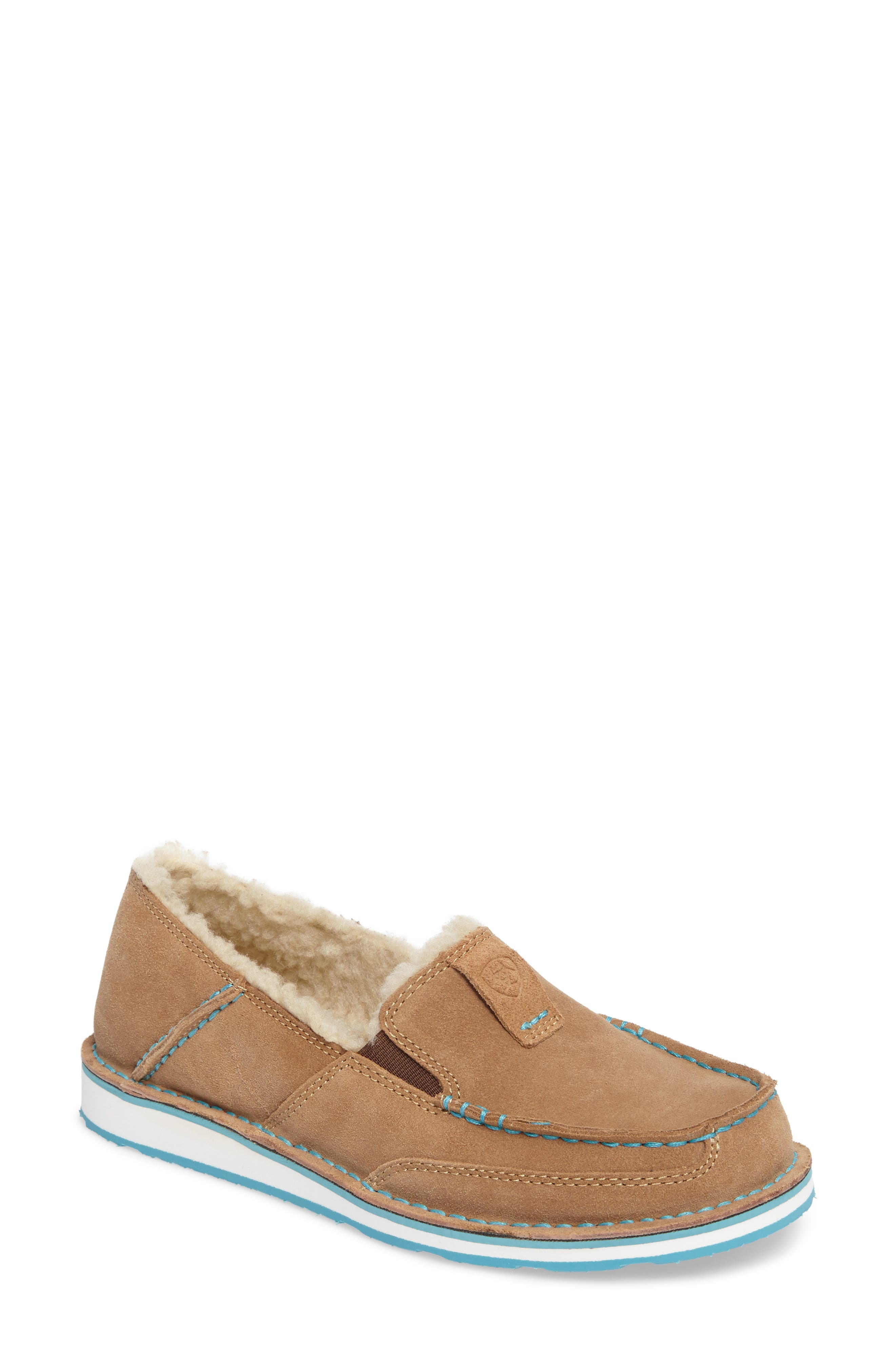 Cruiser Slip-On Loafer With Faux Shearling Lining, Fleece Dirty Taupe Suede