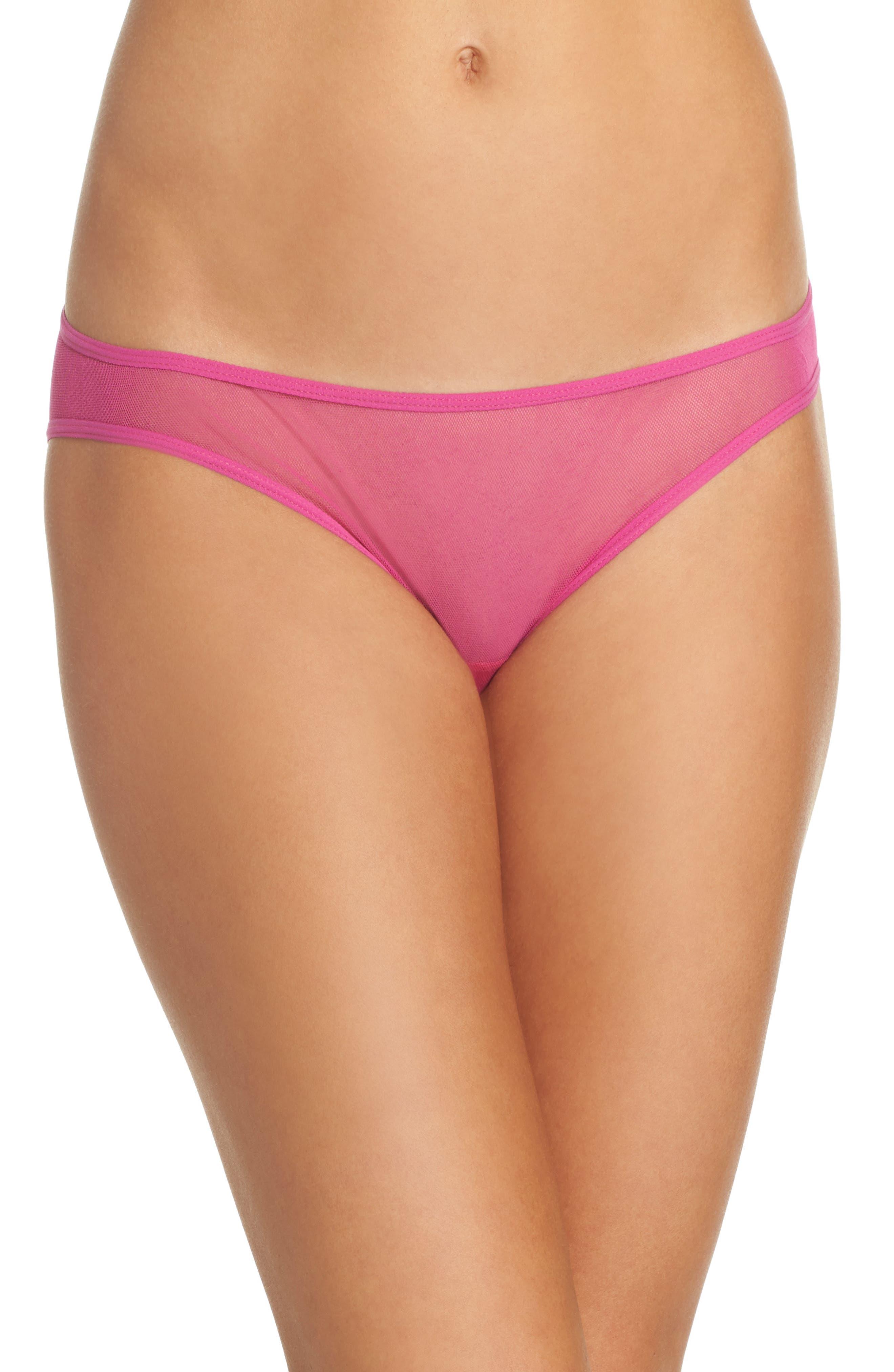 'Soire' Low Rise Bikini,                         Main,                         color, Bright Berry