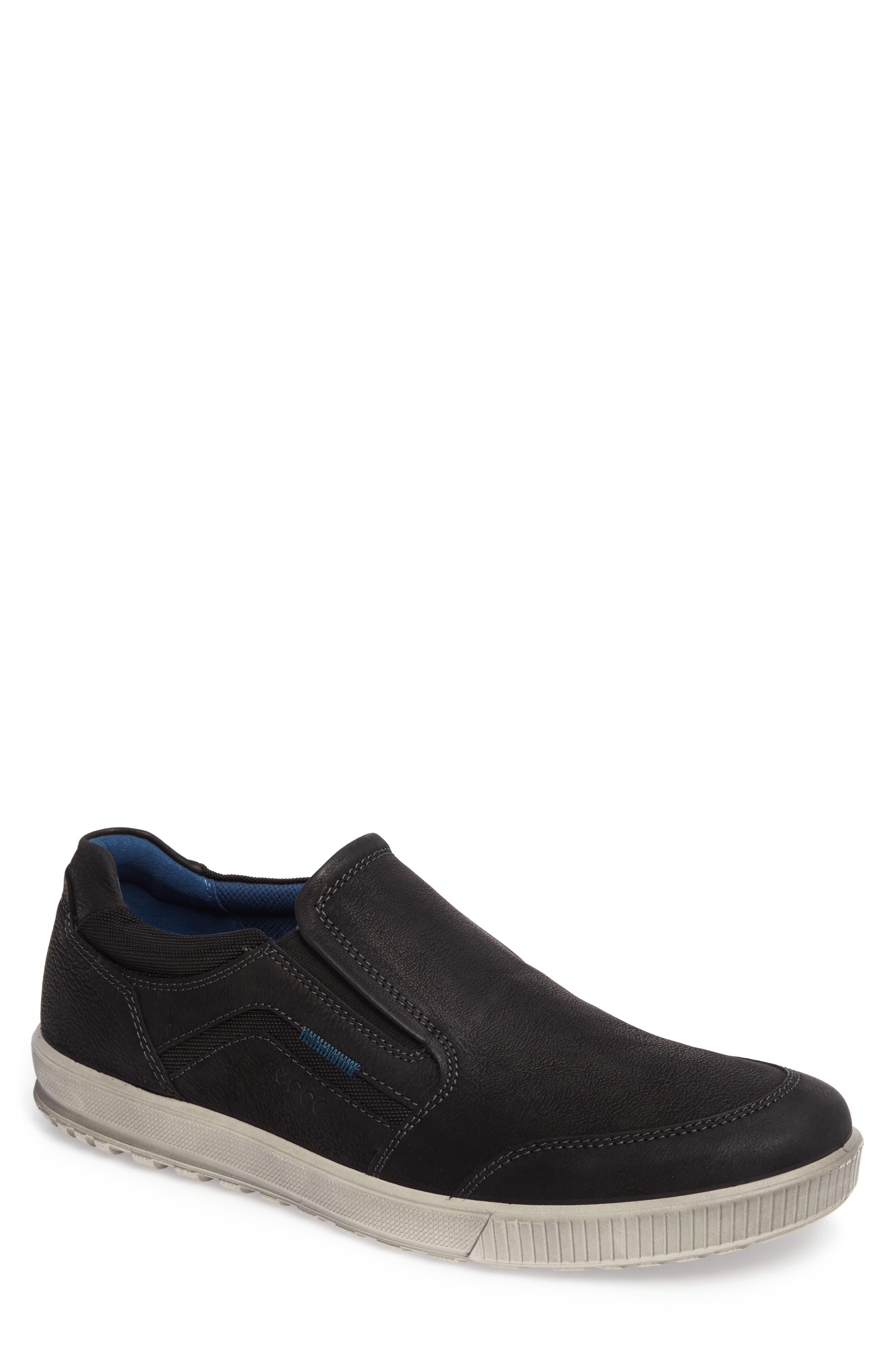 Ennio Slip-On,                         Main,                         color, Black Leather