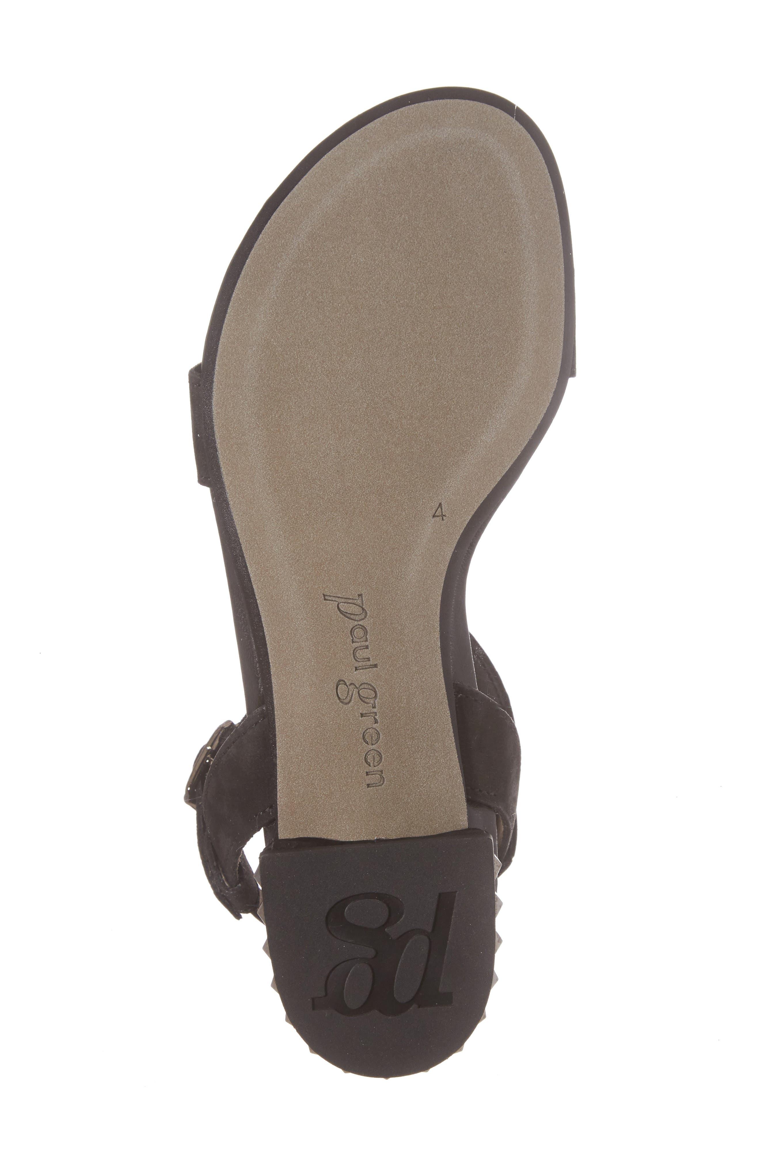 Nepal T-Strap Sandal,                             Alternate thumbnail 6, color,                             Black Nubuck