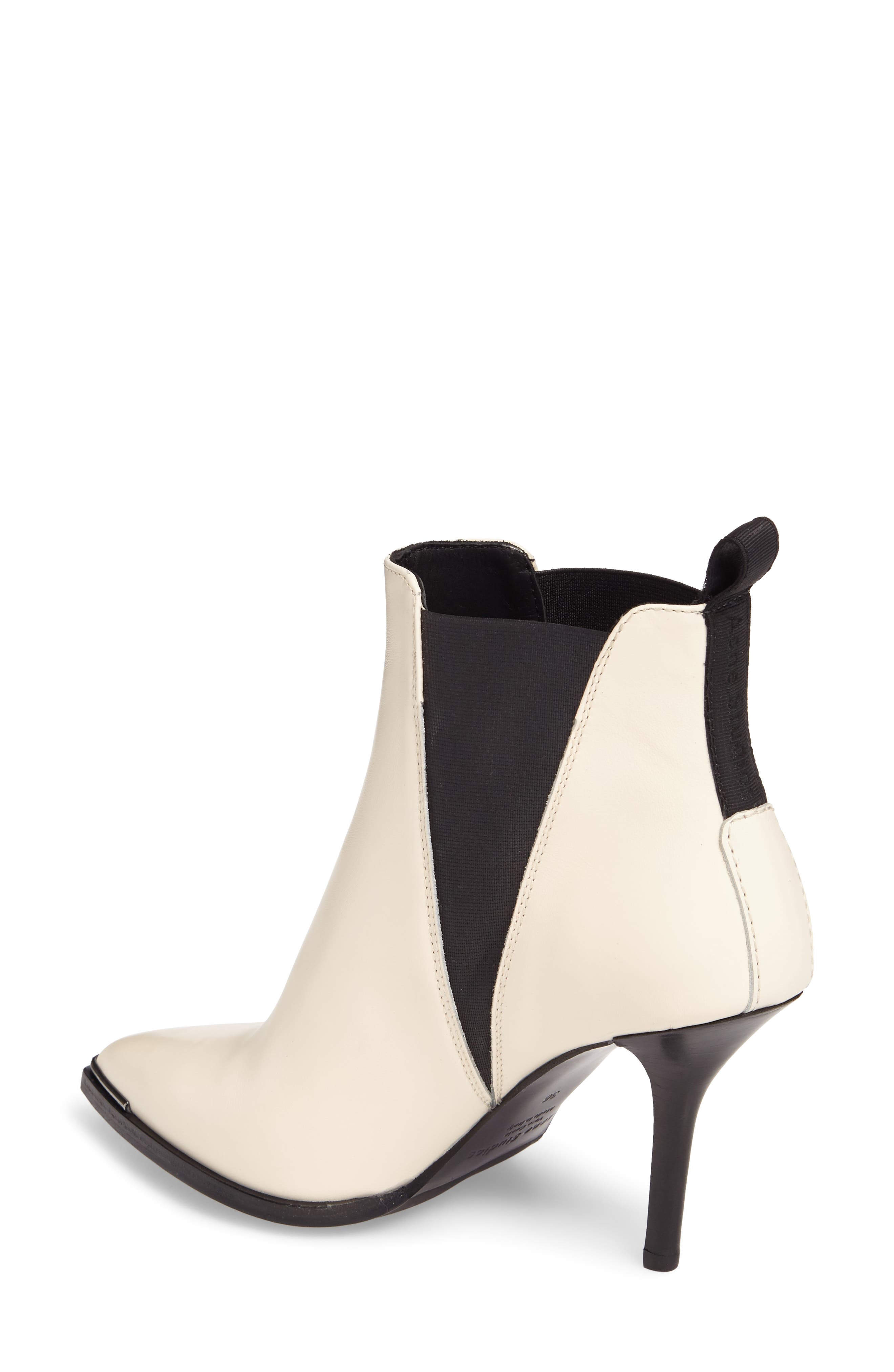 Jemma Pointy Toe Bootie,                             Alternate thumbnail 2, color,                             Off White