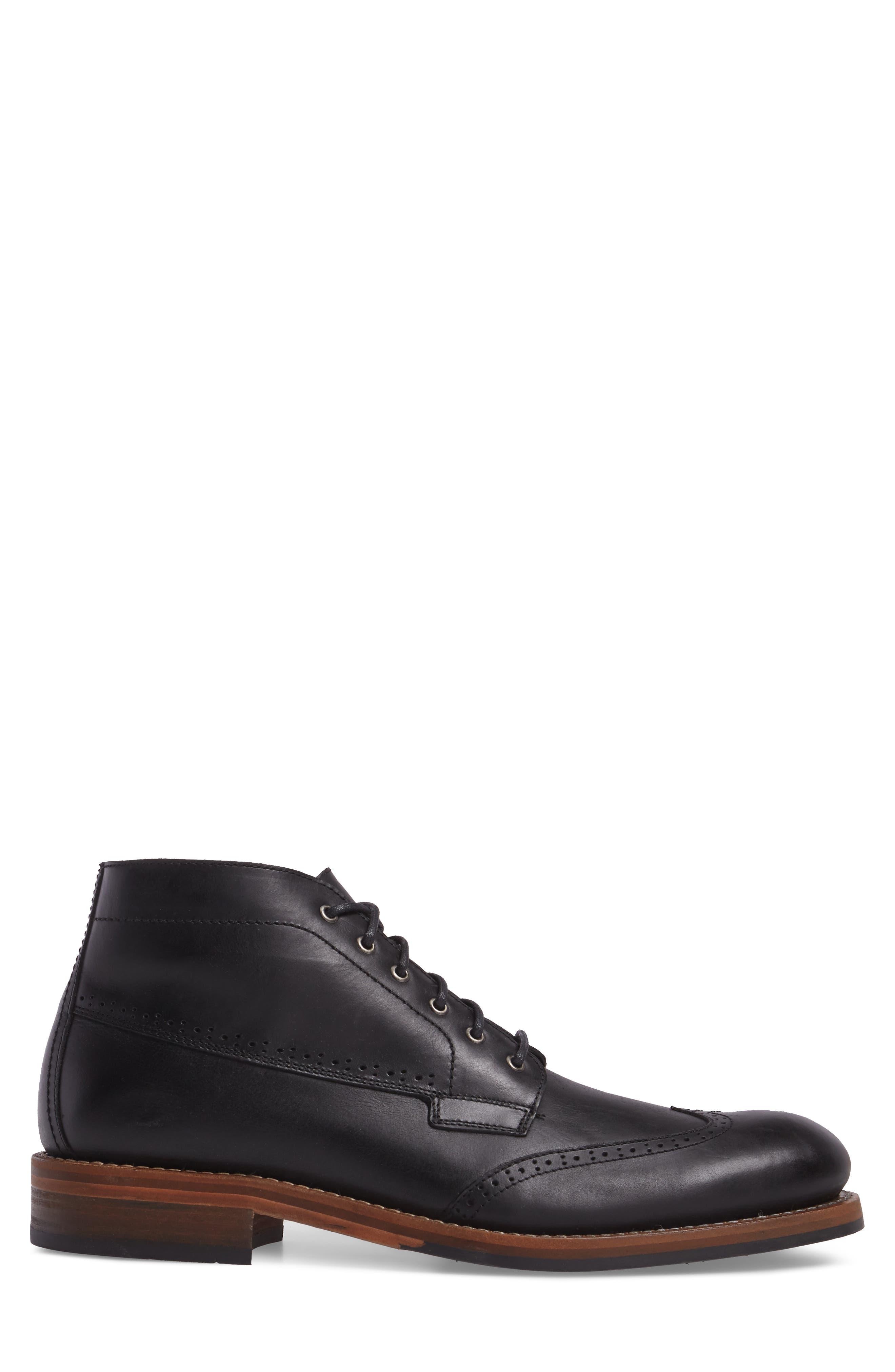 Harwell Wingtip Boot,                             Alternate thumbnail 3, color,                             Black