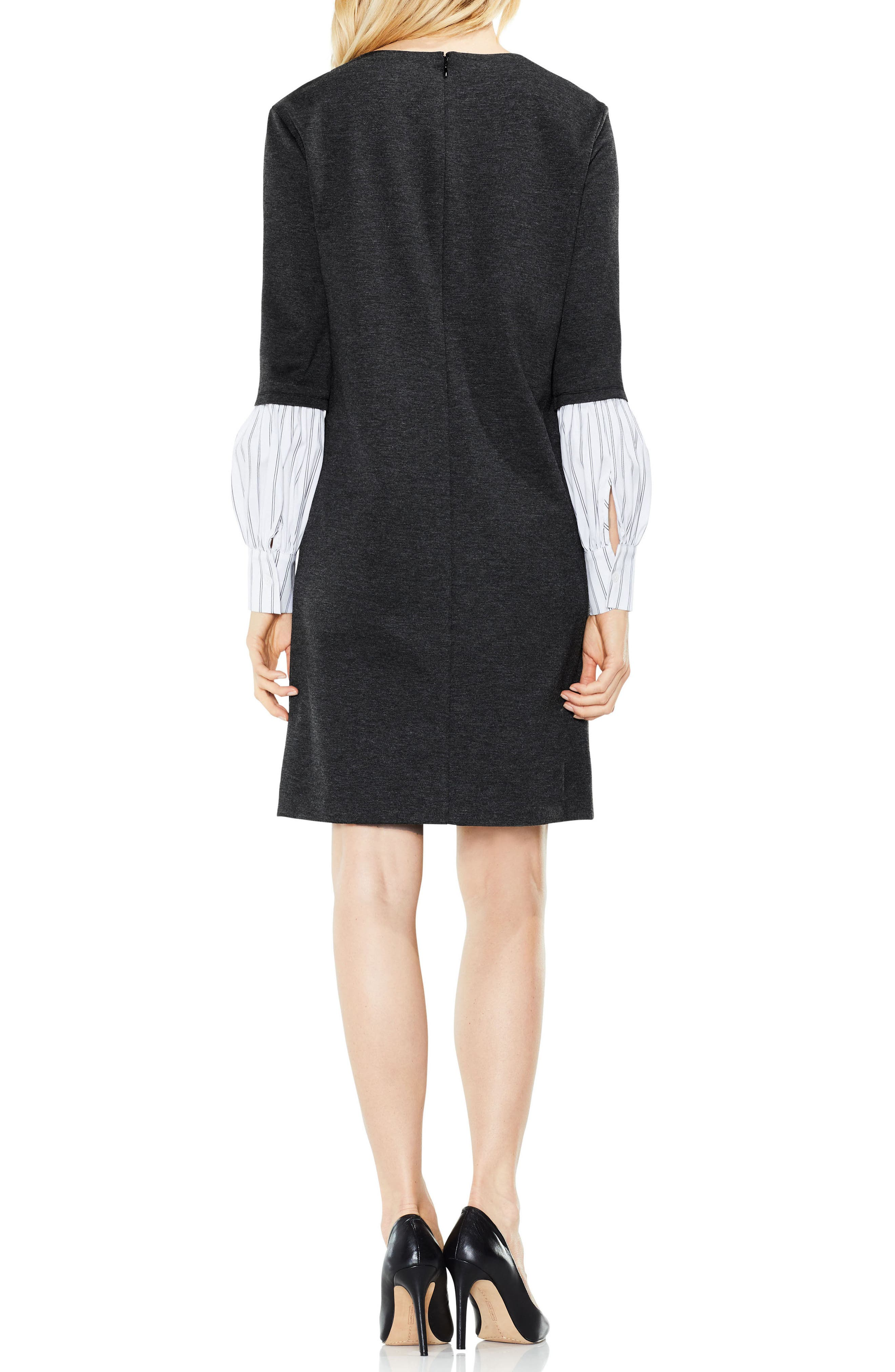 Alternate Image 3  - Vince Camuto Bubble Sleeve Mix Media Dress