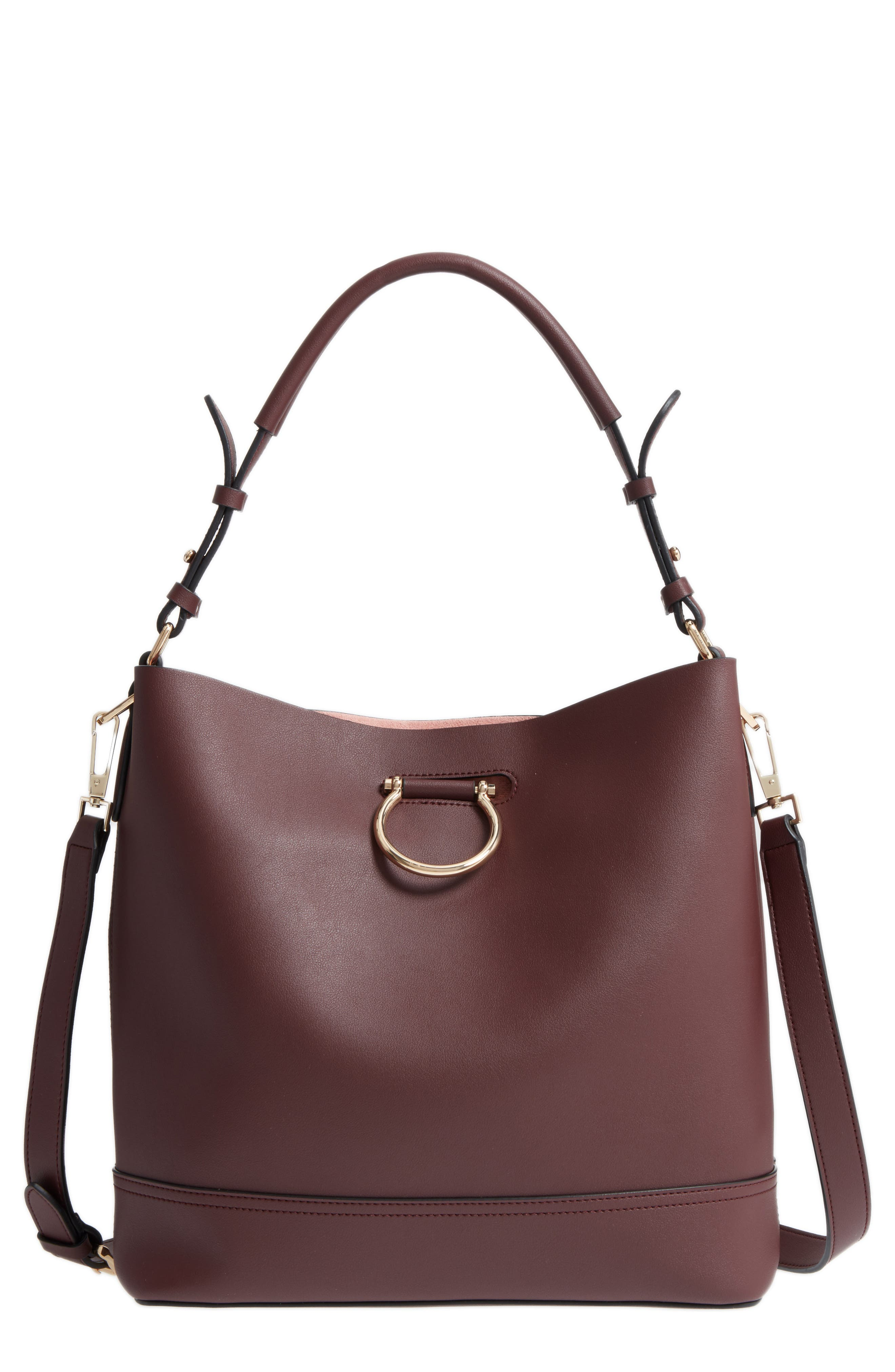 Topshop Remy Trophy Faux Leather Hobo