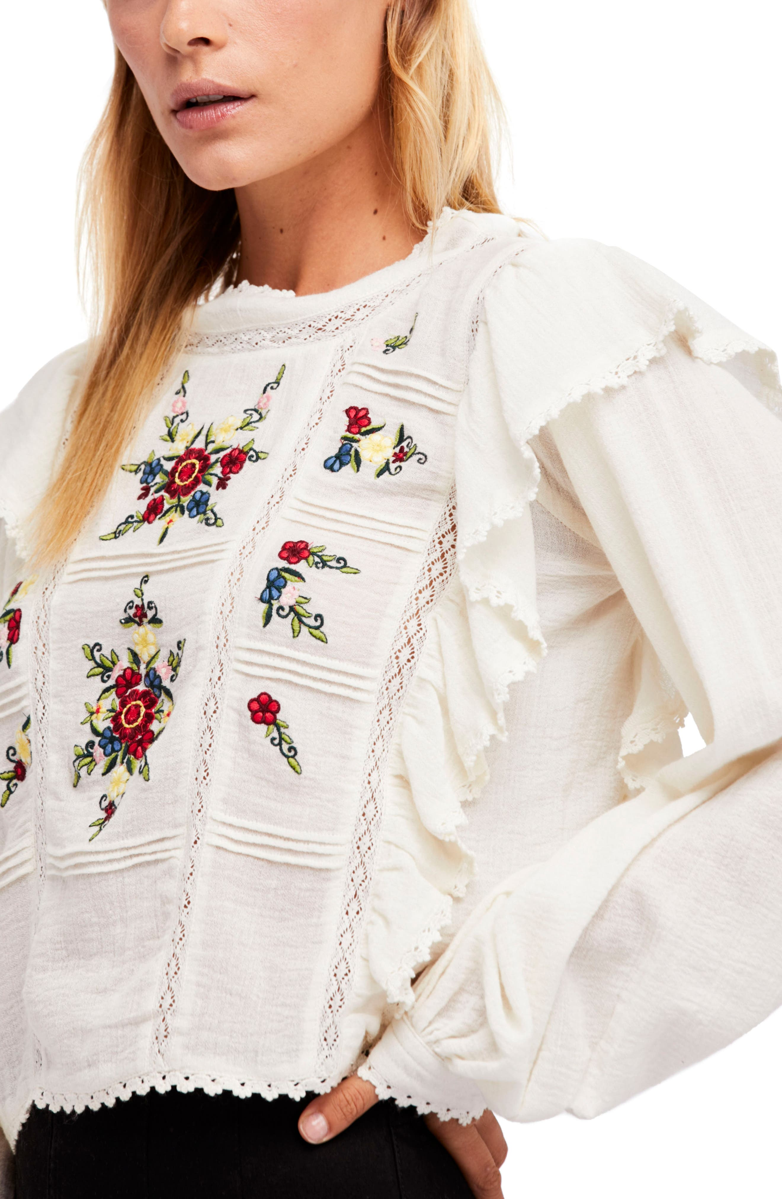 The Amy Blouse,                         Main,                         color, Cream