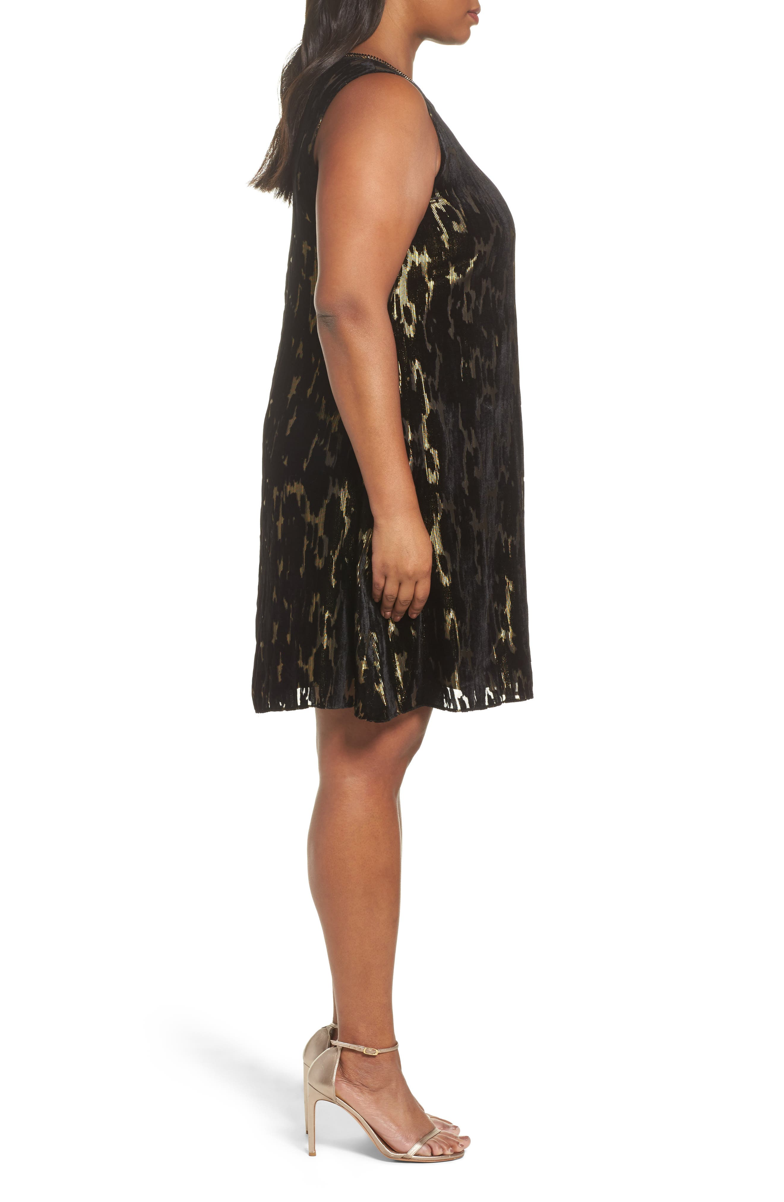 Alternate Image 3  - Tahari Burnout Velvet Dress (Plus Size)