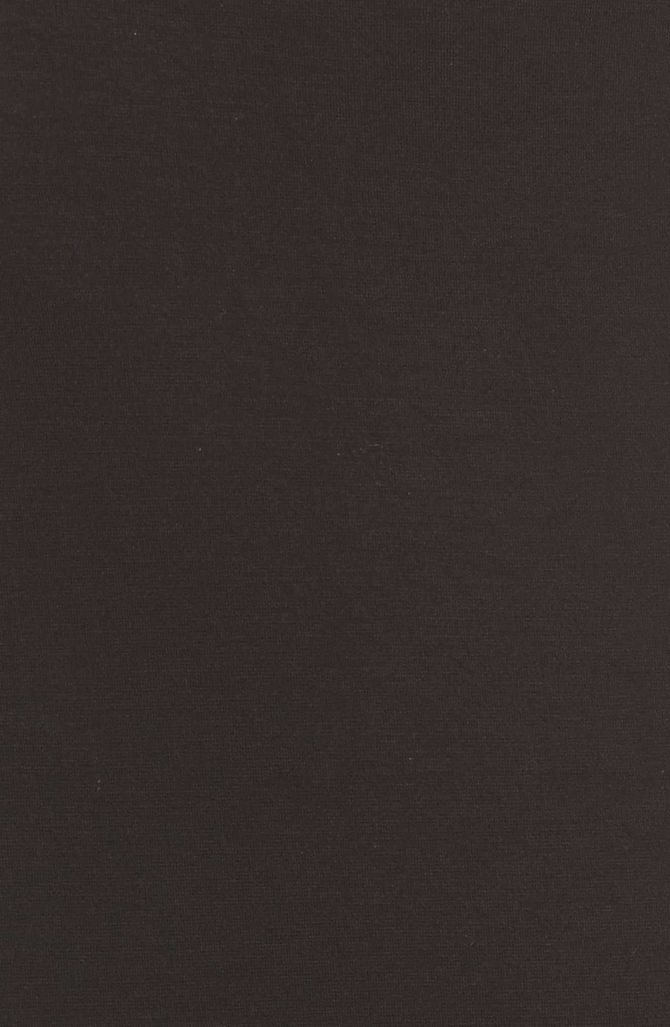 High Waist Knit Skirt,                             Alternate thumbnail 5, color,                             Black