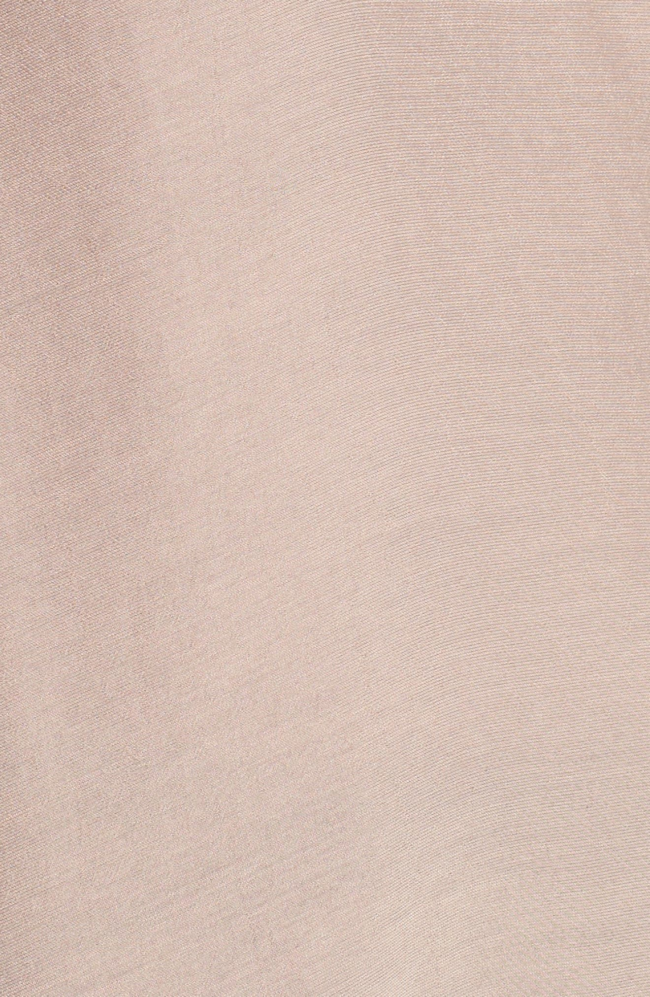 Tulle Puff Sleeve Top,                             Alternate thumbnail 5, color,                             Dusty Rose