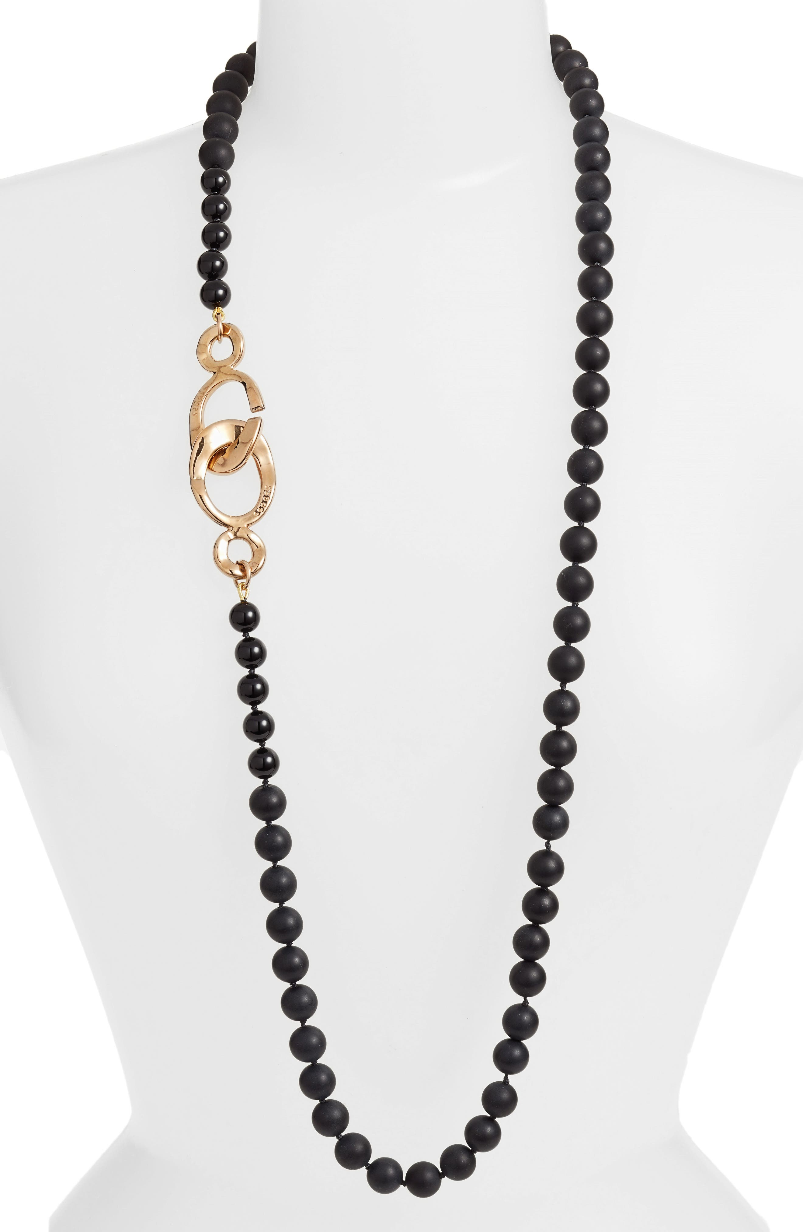 Simon Sebbag Matte Onyx Bead Necklace