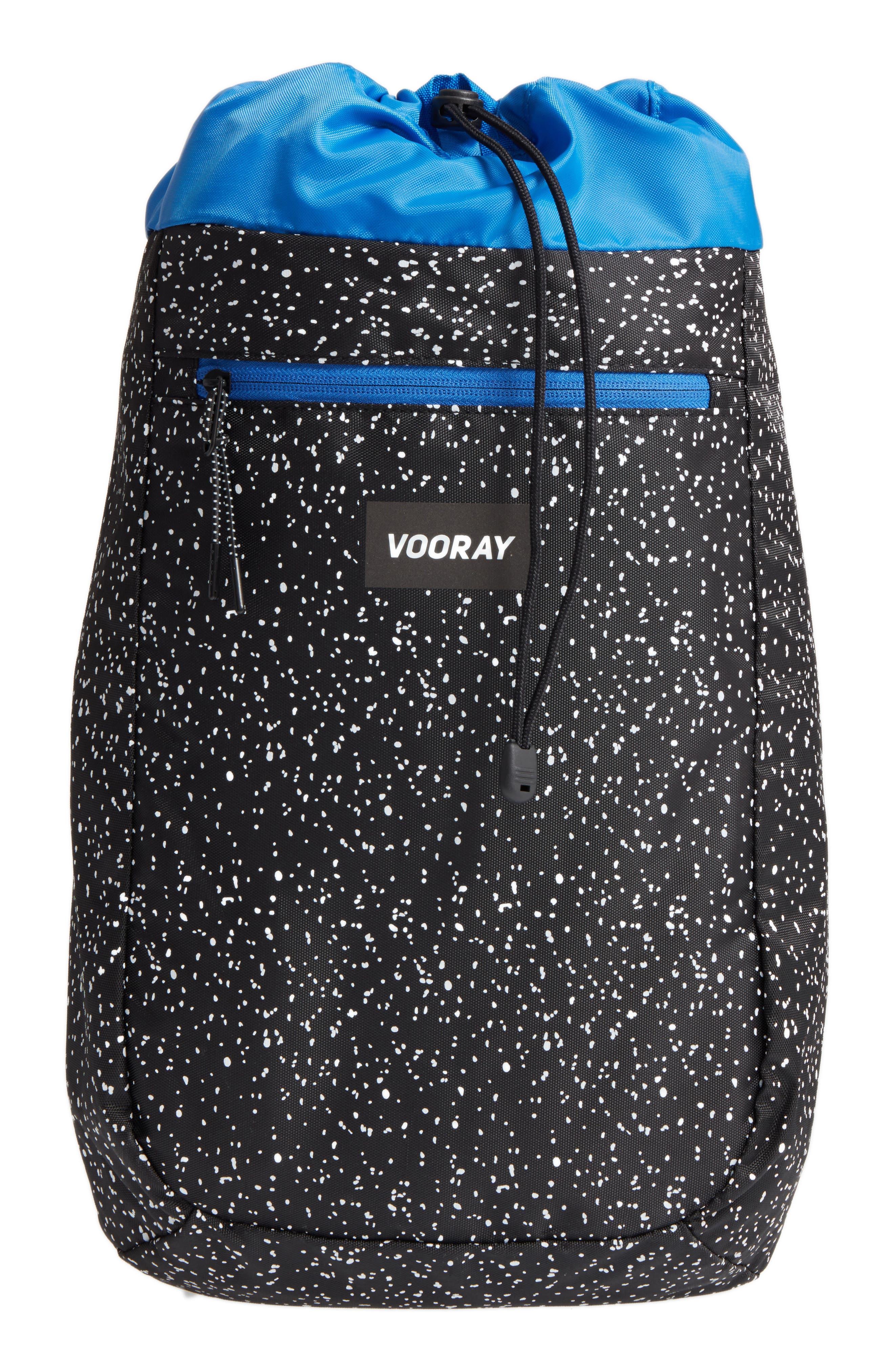 Stride Cinch Top Backpack,                         Main,                         color, Black Speck