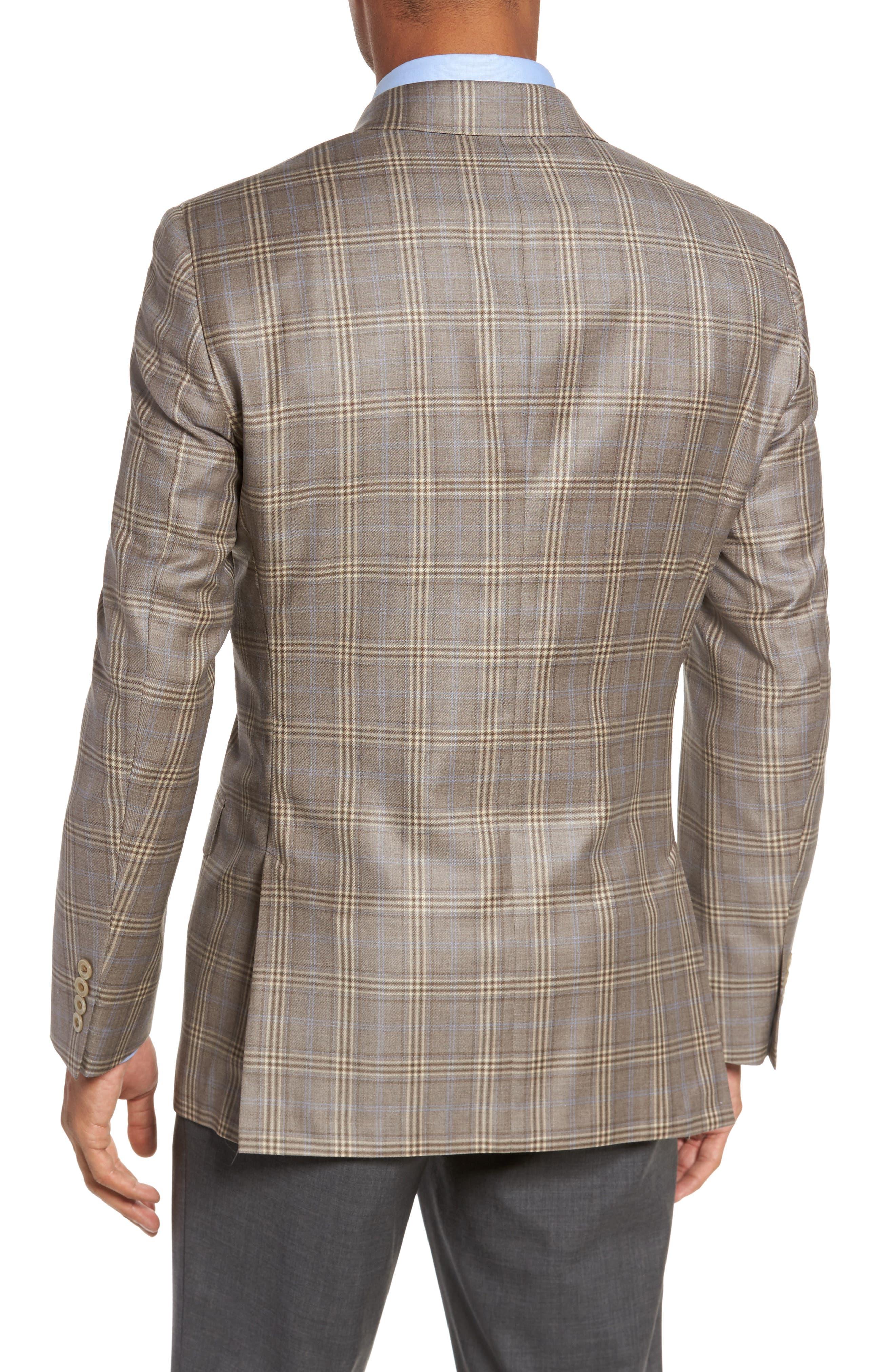 Classic Fit Plaid Wool Sport Coat,                             Alternate thumbnail 2, color,                             Light Brown