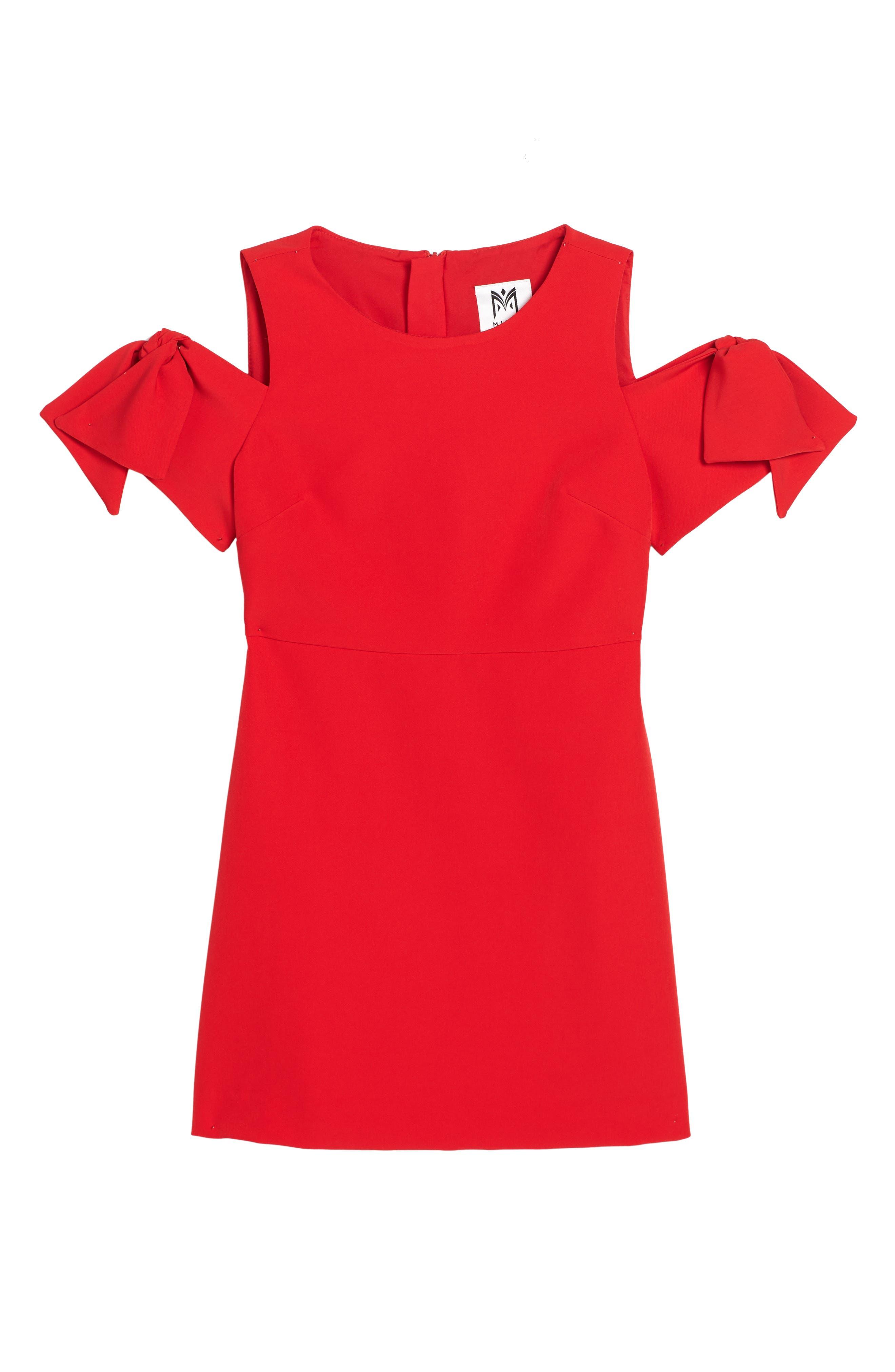 Milly Minis Mod Tie Cold Shoulder Dress (Big Girls)