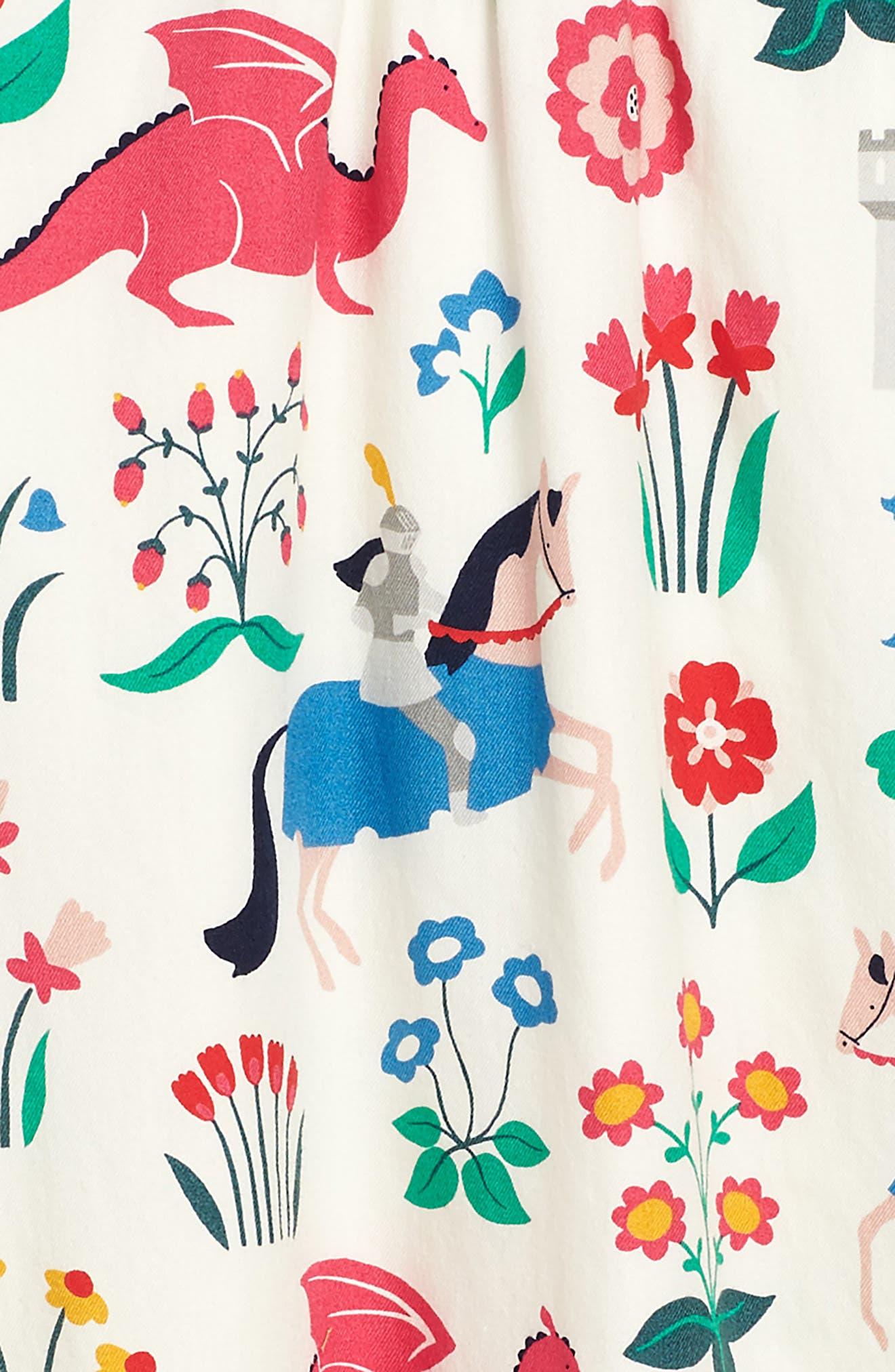 Alternate Image 2  - Mini Boden Print Woven Dress (Toddler Girls, Little Girls & Big Girls)
