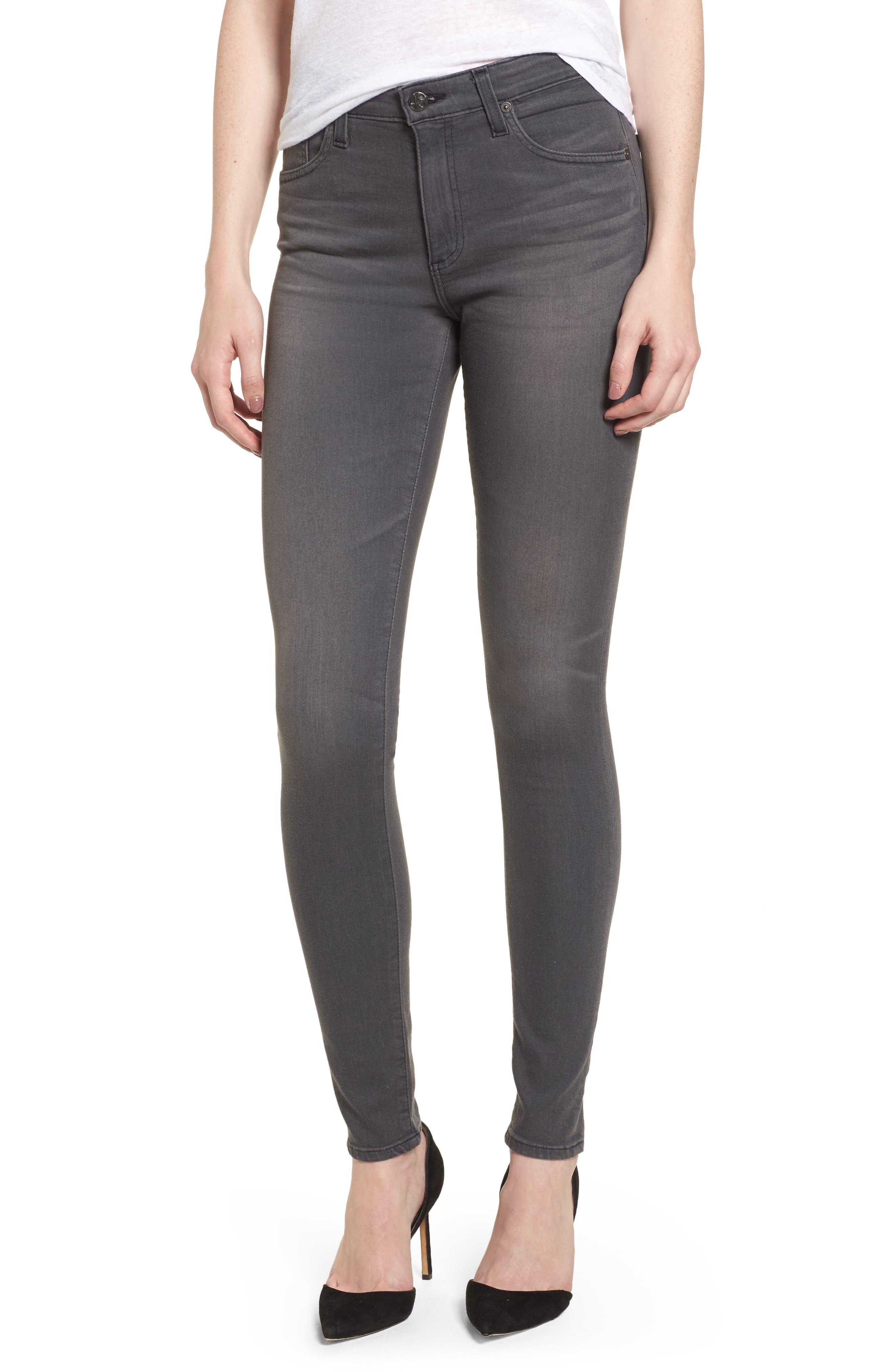 Alternate Image 1 Selected - AG Farrah High WaistSkinny Jeans (4 Years Earl Grey)