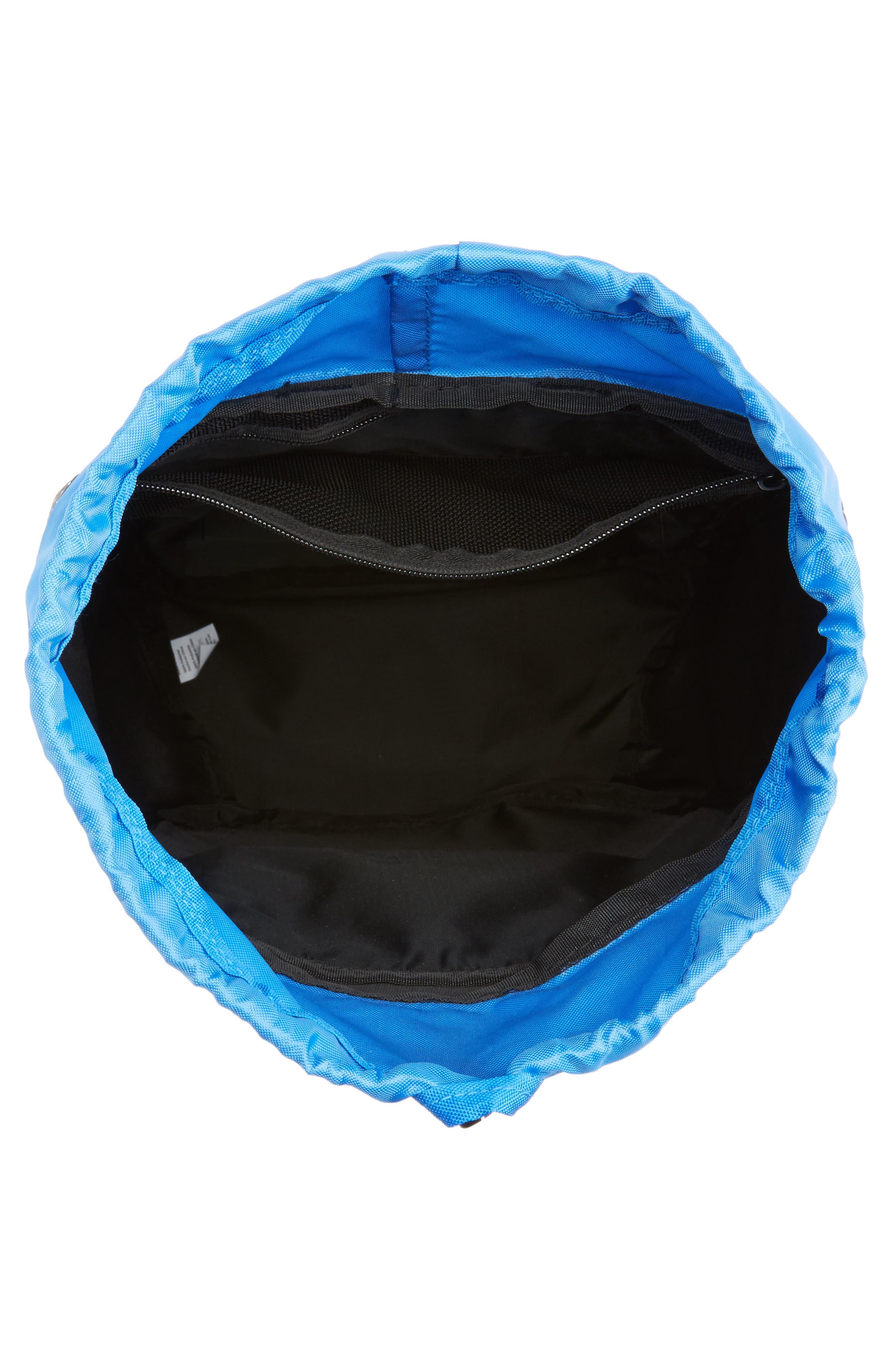 Stride Cinch Top Backpack,                             Alternate thumbnail 3, color,                             Black Speck