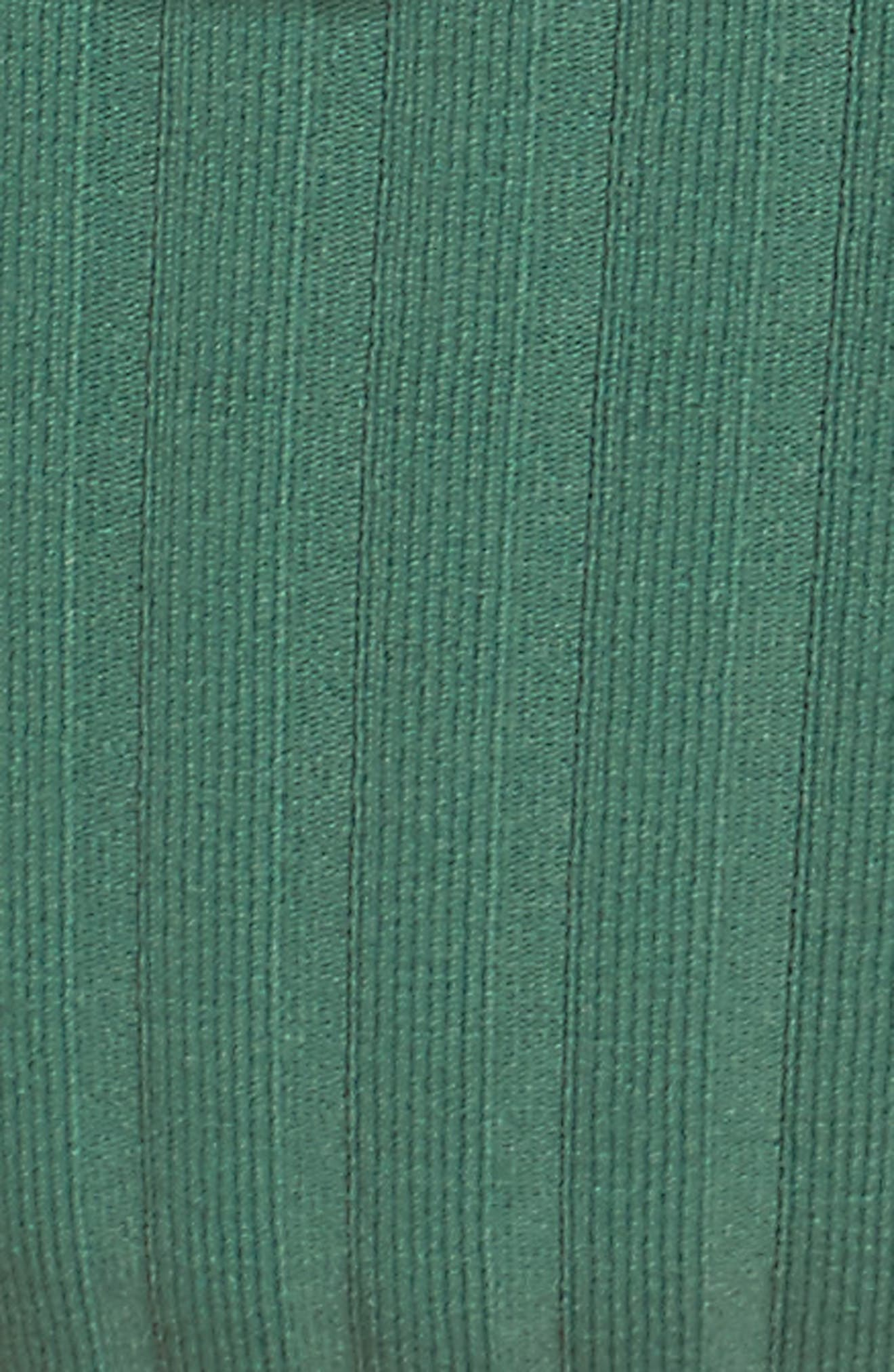 The Rachel Bikini Bottoms,                             Alternate thumbnail 5, color,                             Emerald Rib