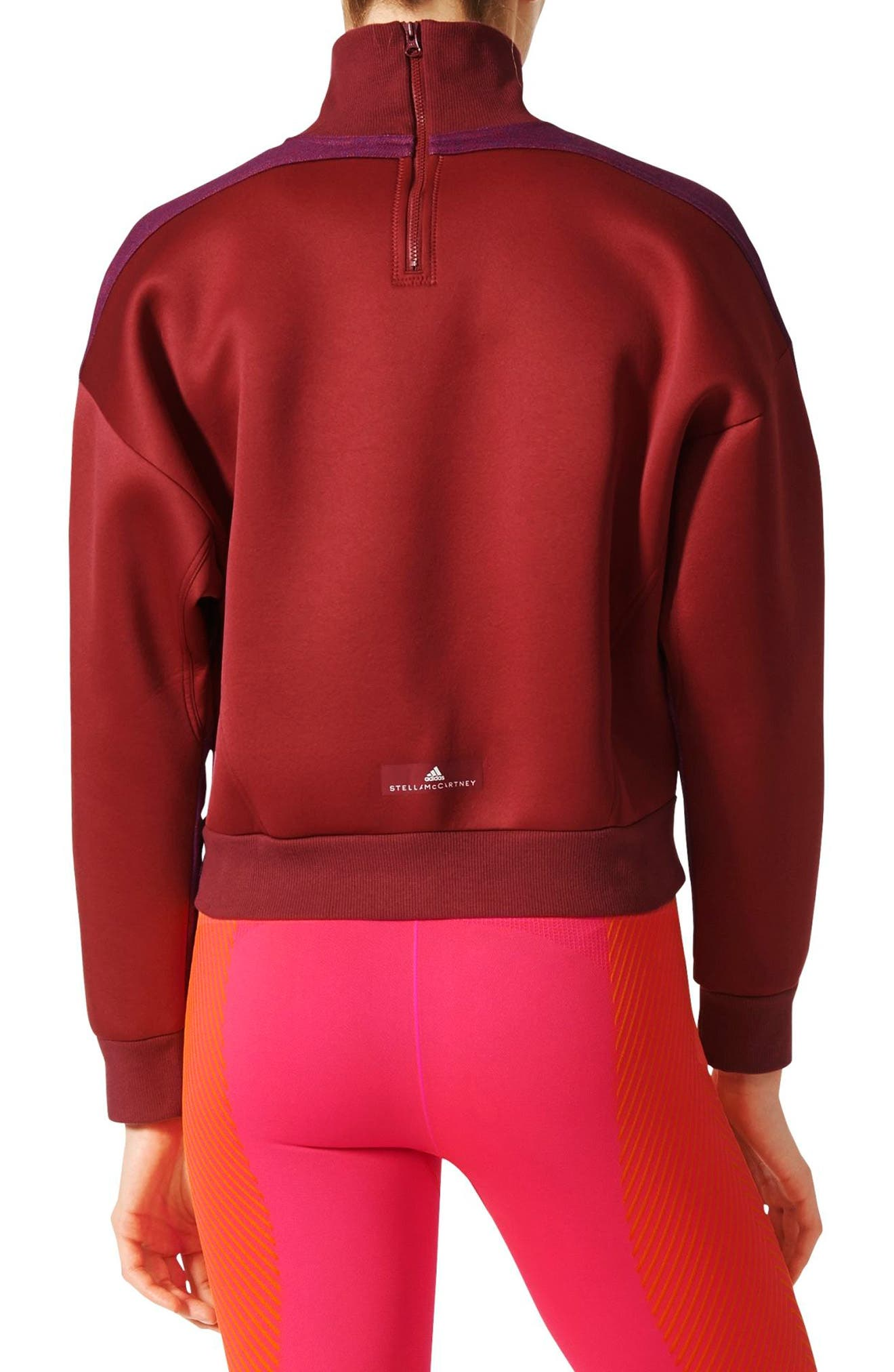 Alternate Image 2  - adidas by Stella McCartney Yoga Turtleneck Sweatshirt