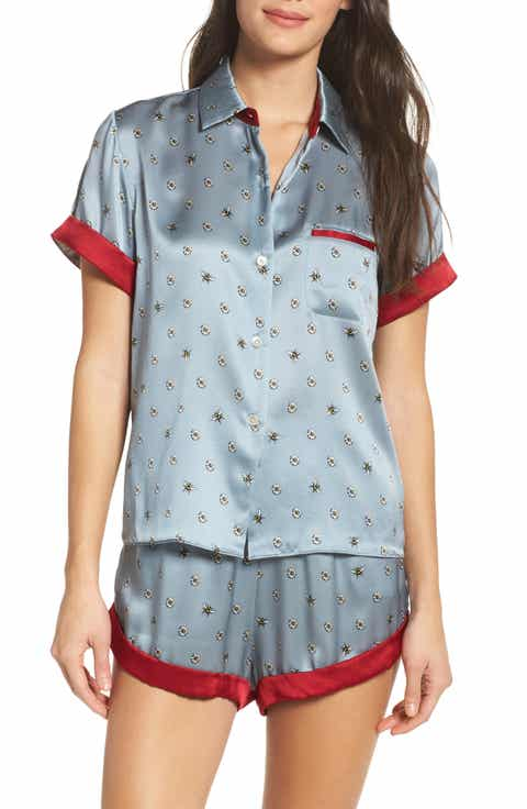 Morgan Lane Staci Silk Pajama Top