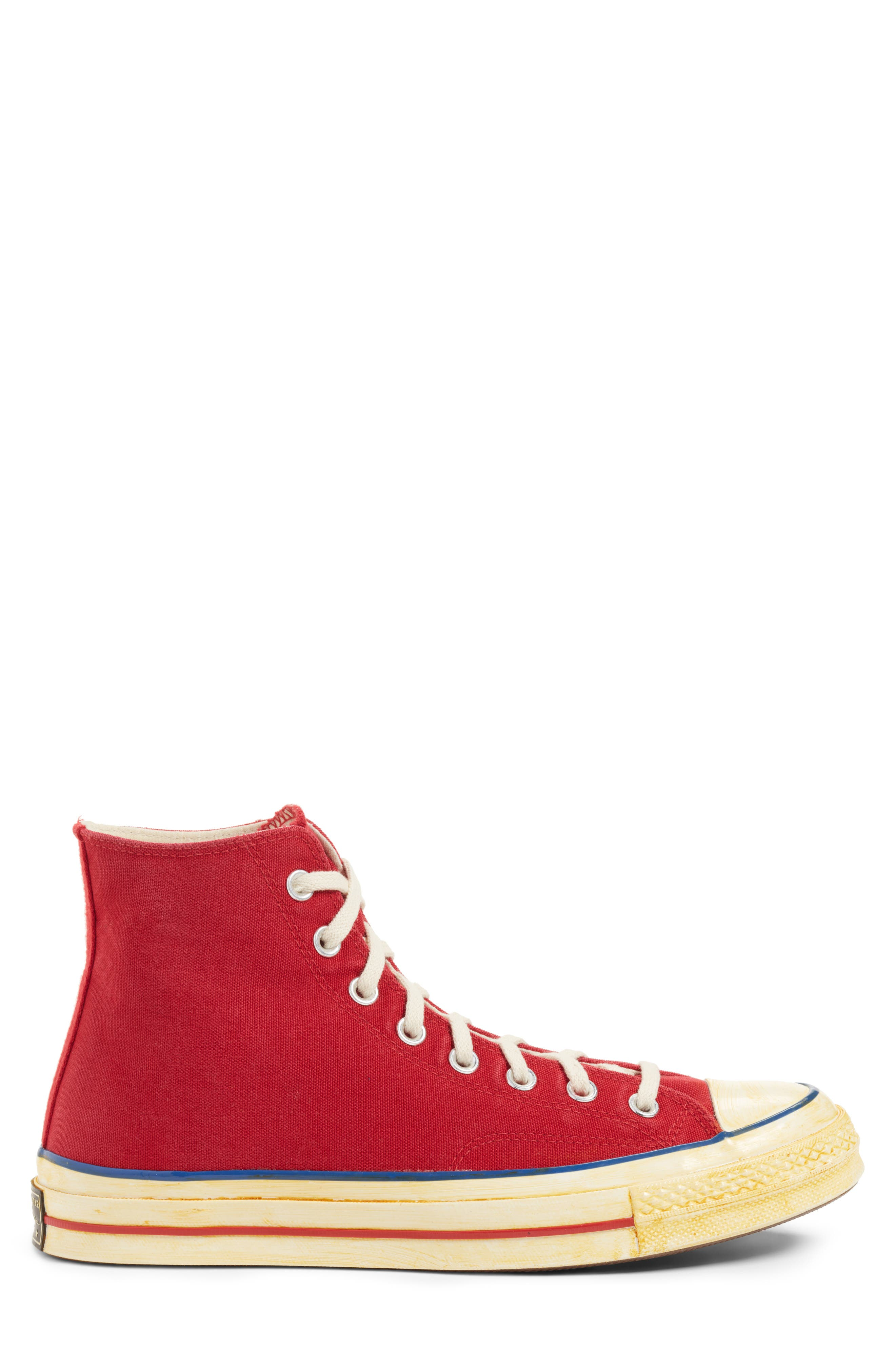 Chuck Taylor<sup>®</sup> All Star<sup>®</sup> 70 High Top Sneaker,                             Alternate thumbnail 4, color,                             Red