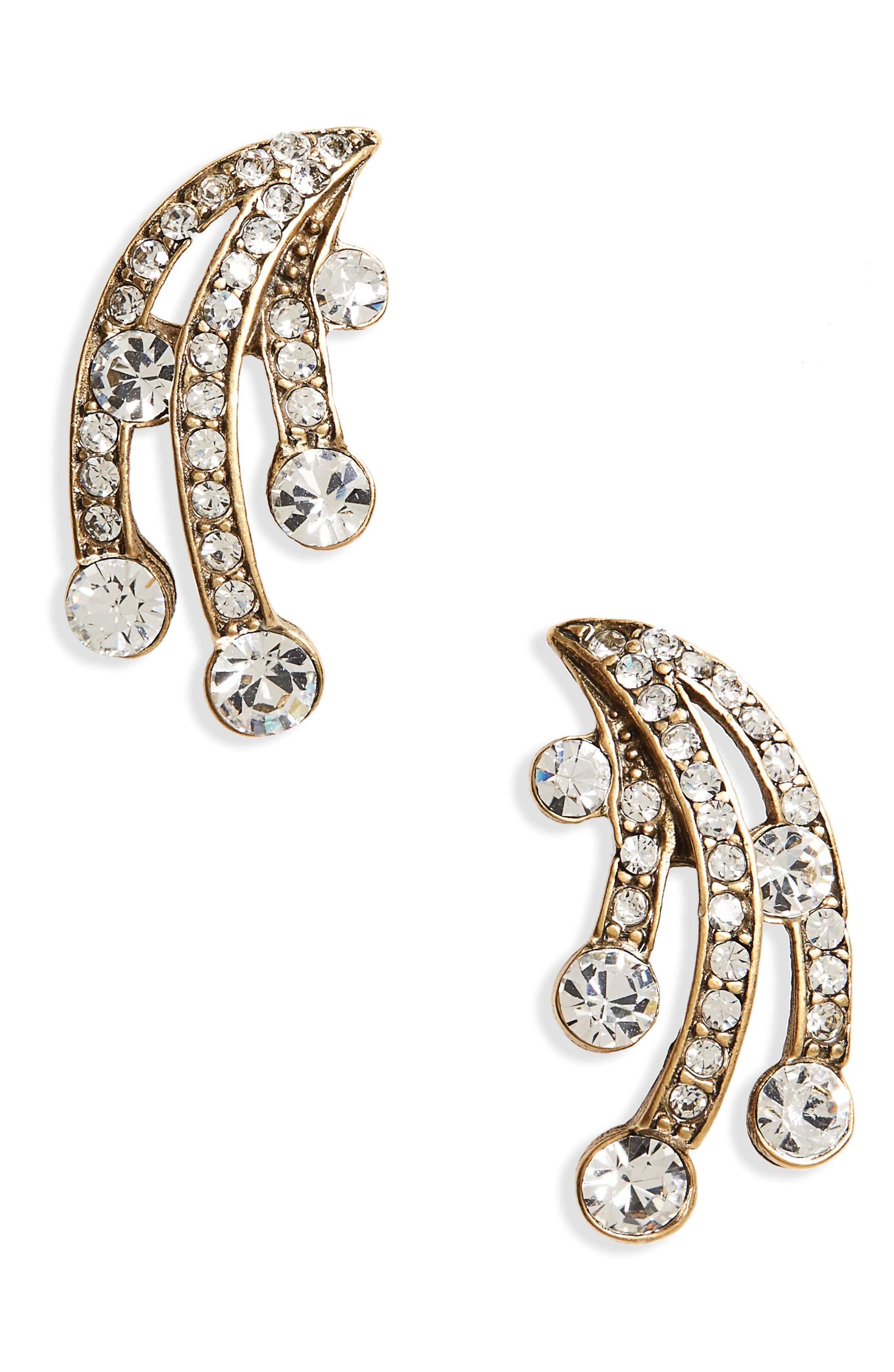 Claire Crystal Ear Crawlers,                         Main,                         color, Crystal