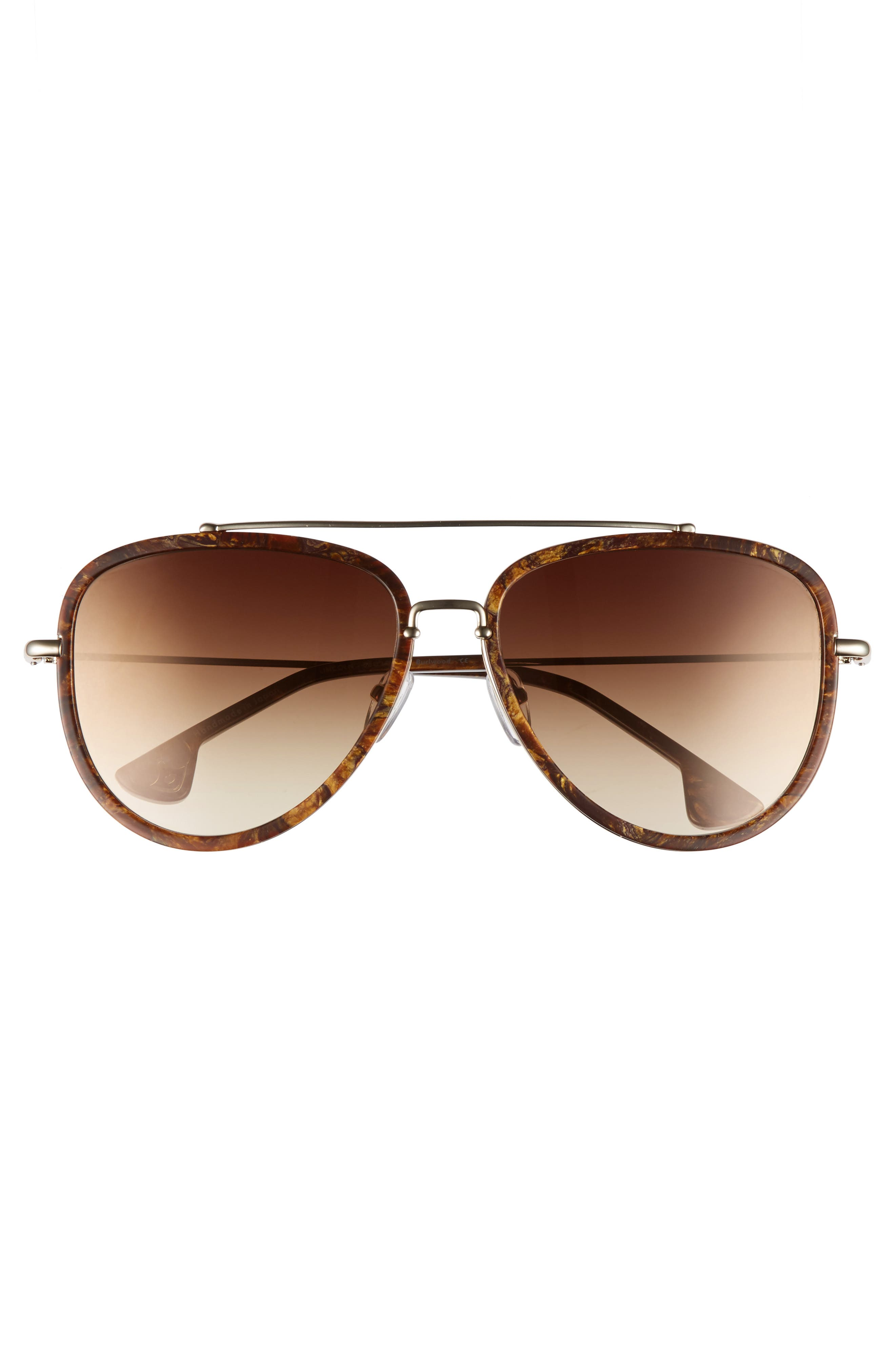 Alternate Image 3  - Alice + Olivia Lincoln 58mm Aviator Sunglasses