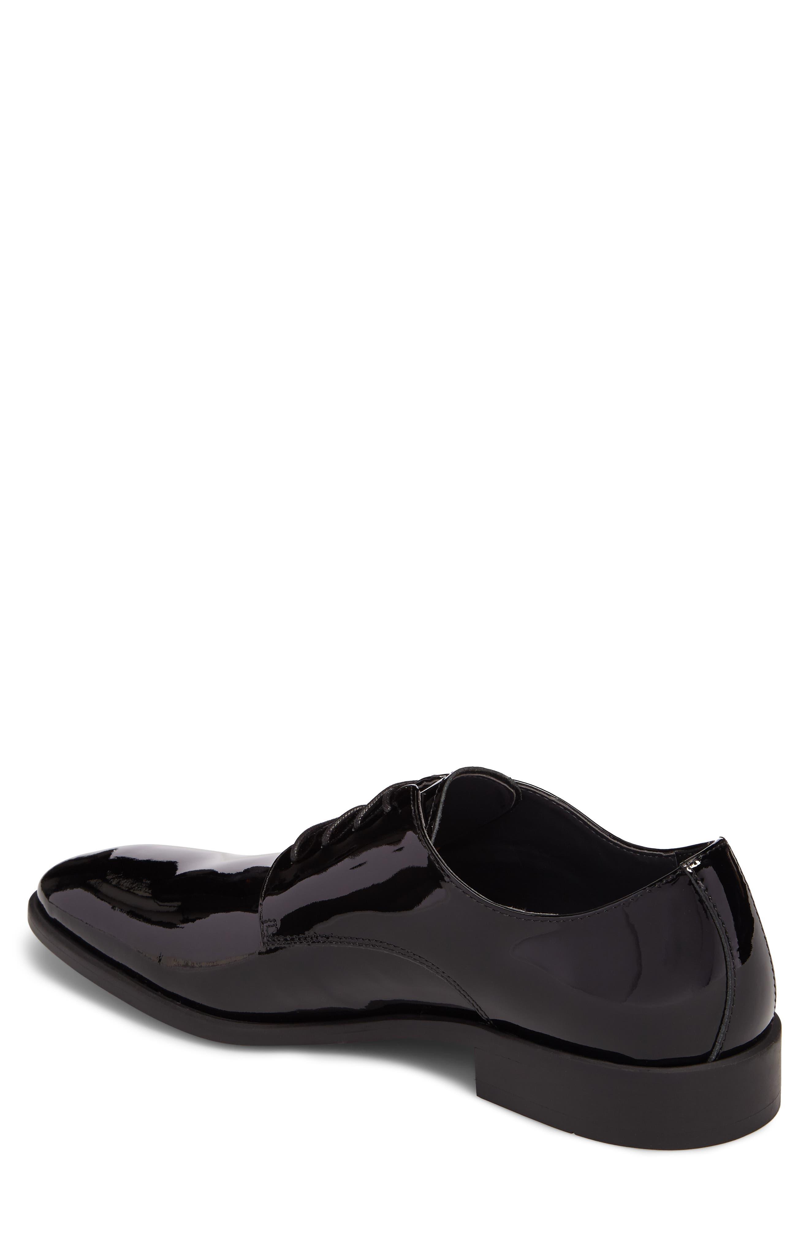 Dallas Plain Toe Derby,                             Alternate thumbnail 2, color,                             Black Patent Leather