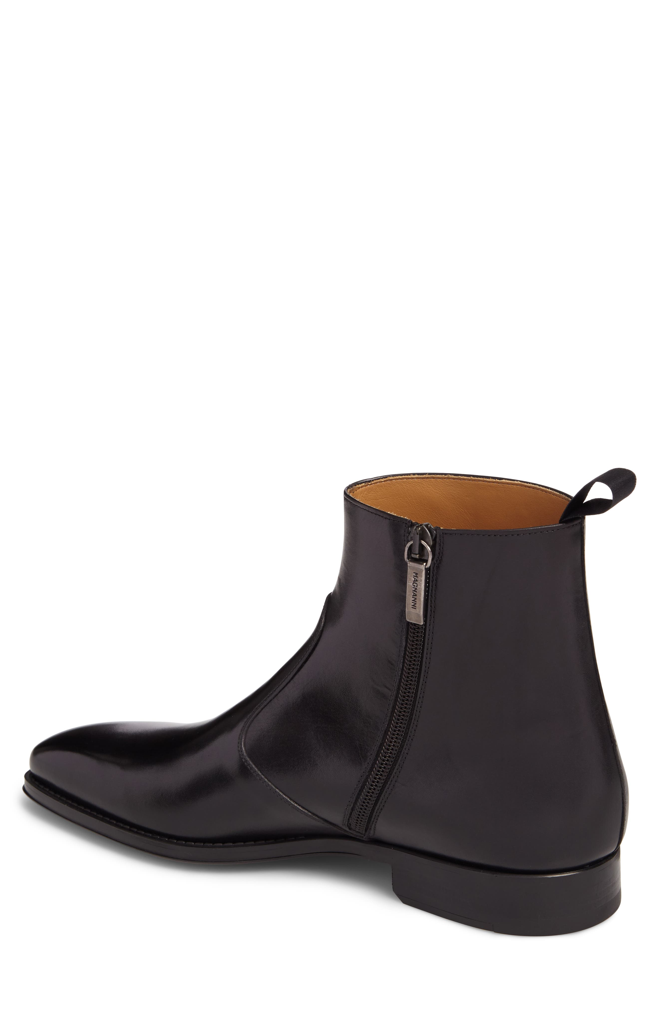 Rosdale Zip Boot,                             Alternate thumbnail 2, color,                             Black Leather