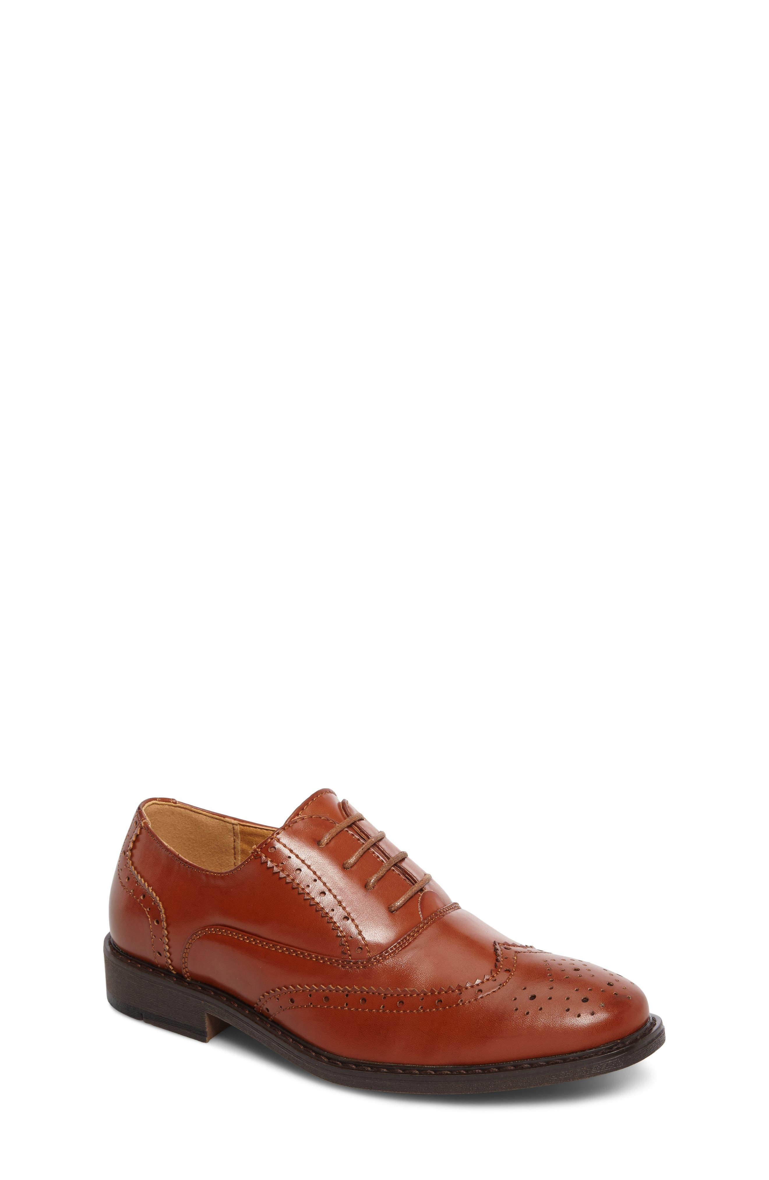 Main Image - Stacy Adams Ty Wingtip Derby (Toddler, Little Kid & Big Kid)