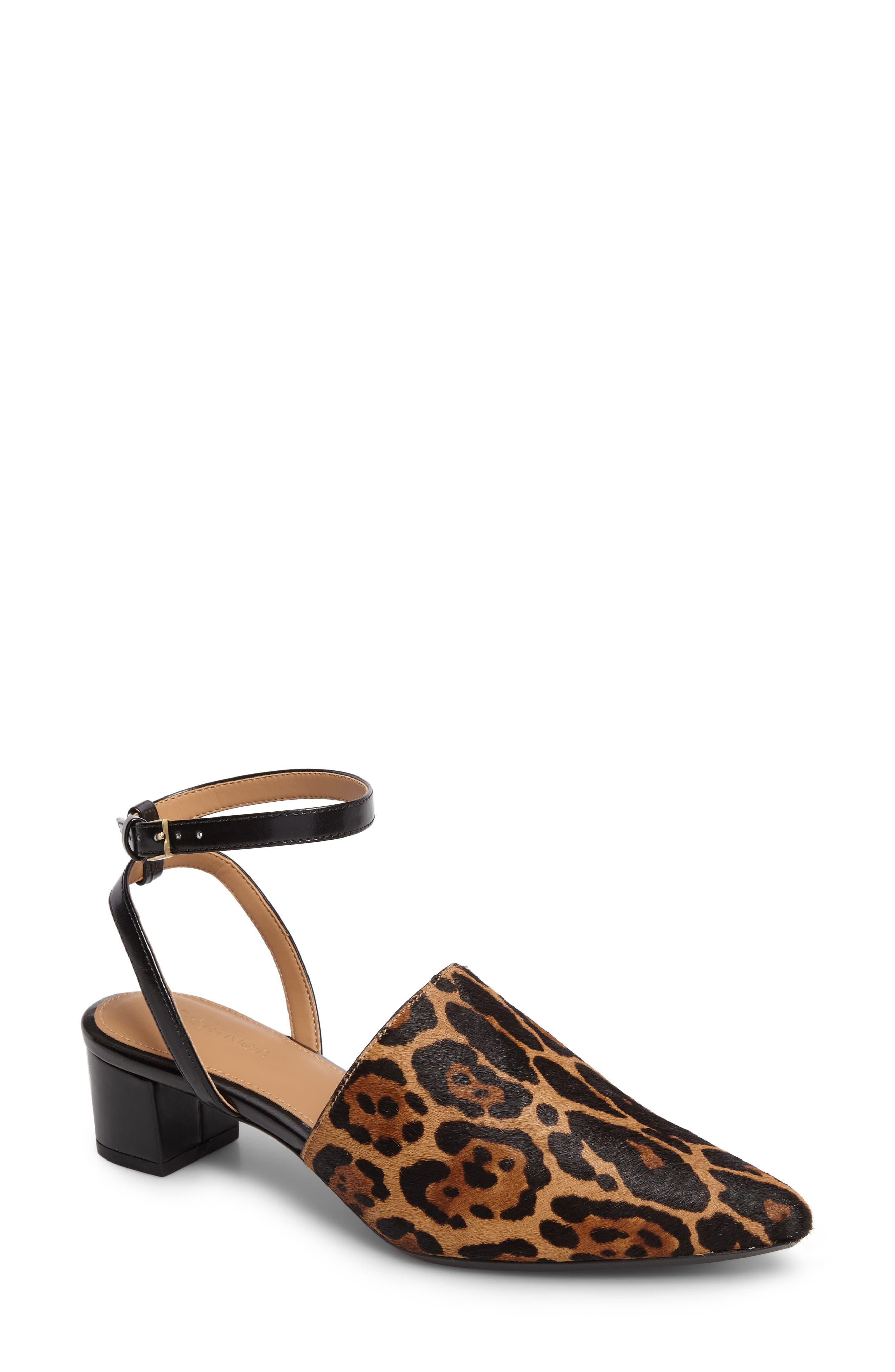 Calvin Klein Ginetta Ankle Strap Pump (Women)