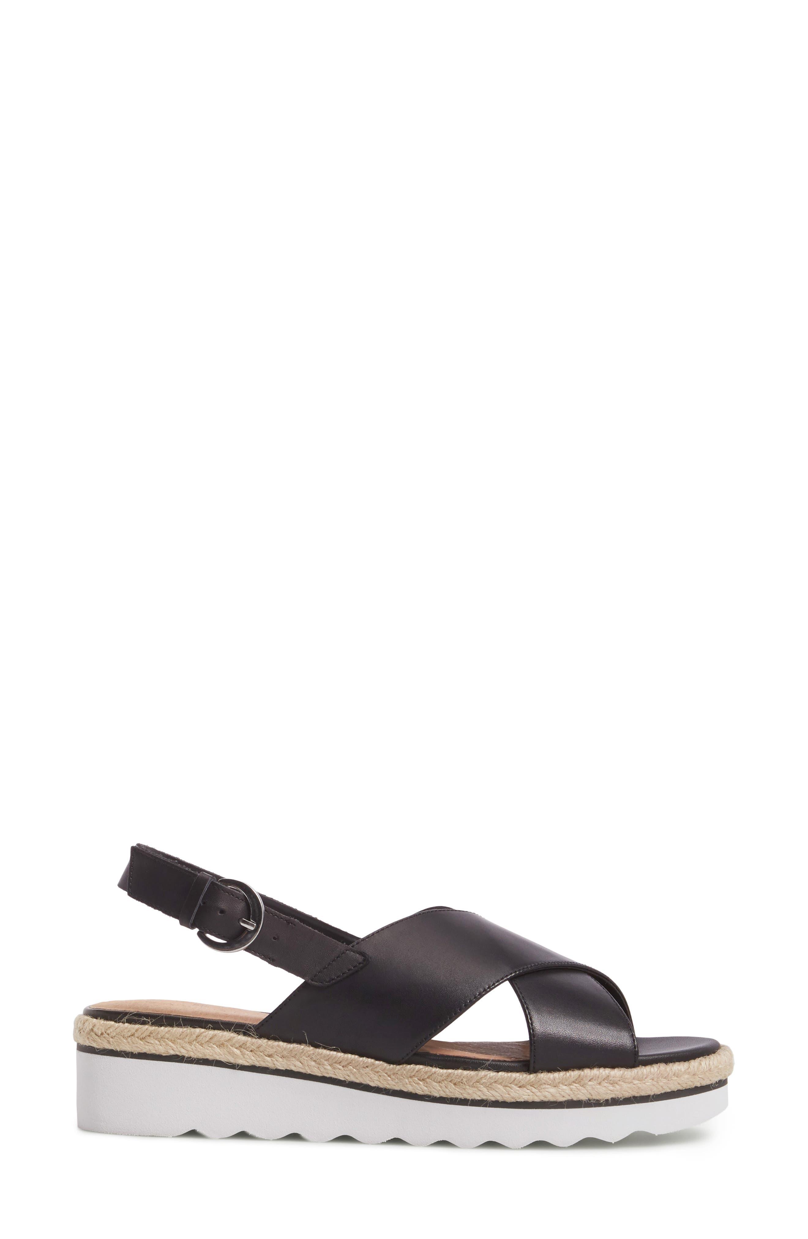 Caslon Lucas Slingback Sandal,                             Alternate thumbnail 4, color,                             Black Leather