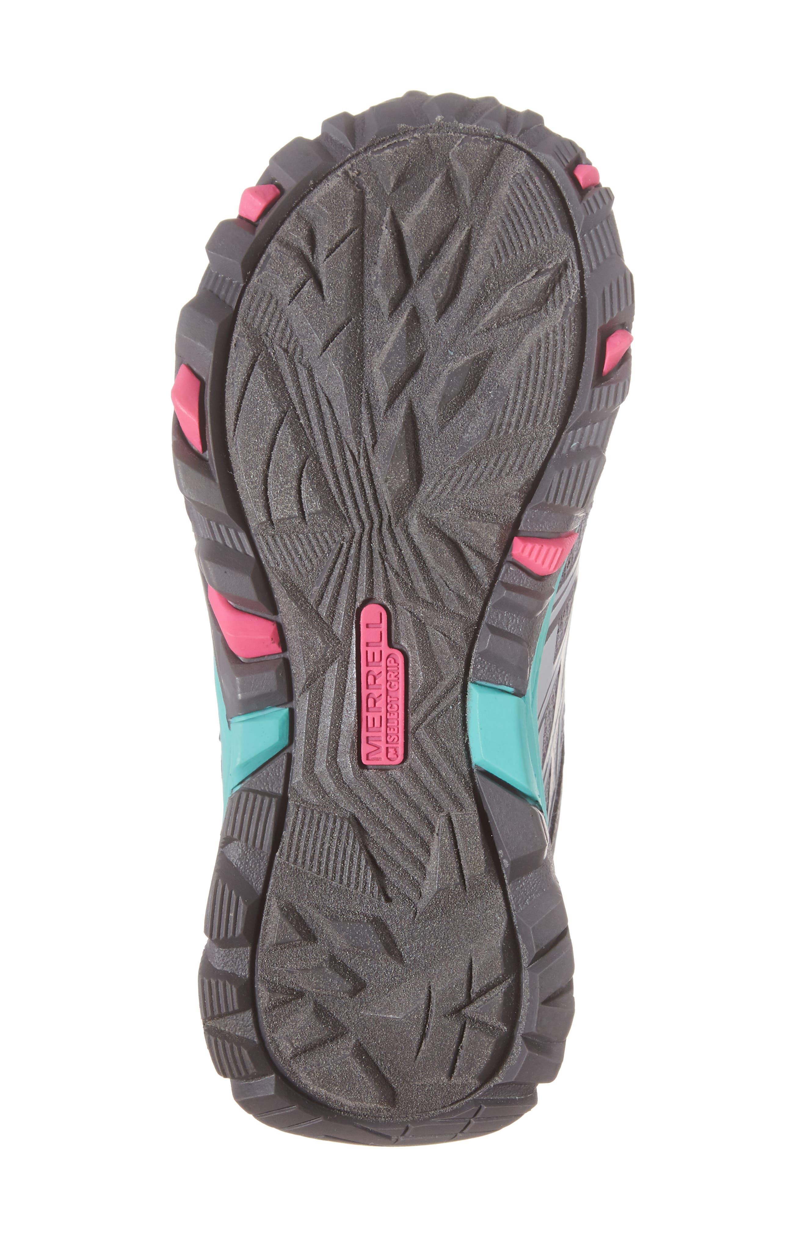 Moab FST Polar Low Waterproof Sneaker,                             Alternate thumbnail 6, color,                             Grey/ Multi