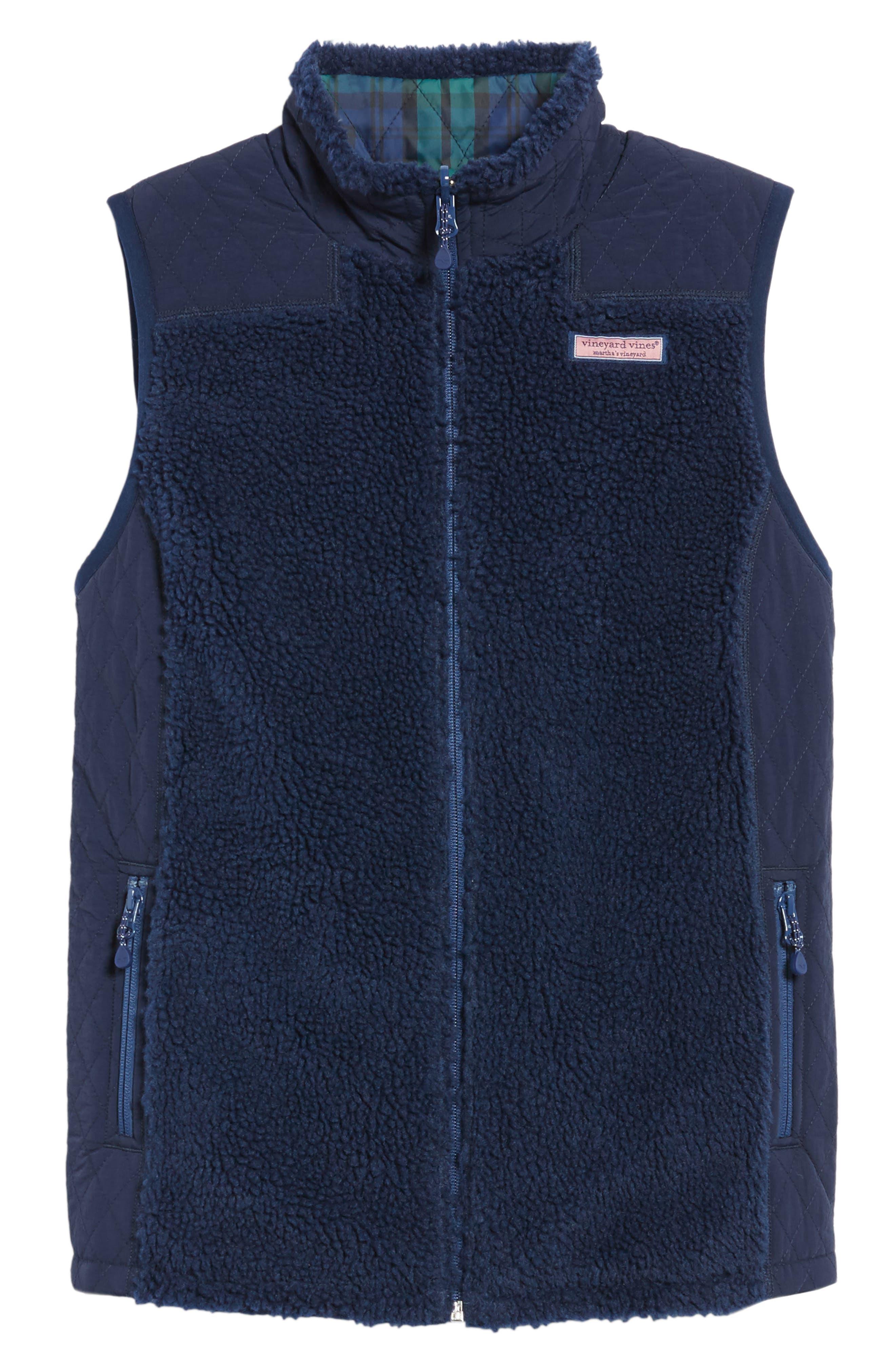Reversible Quilted Plaid Vest,                             Alternate thumbnail 6, color,                             Deep Bay
