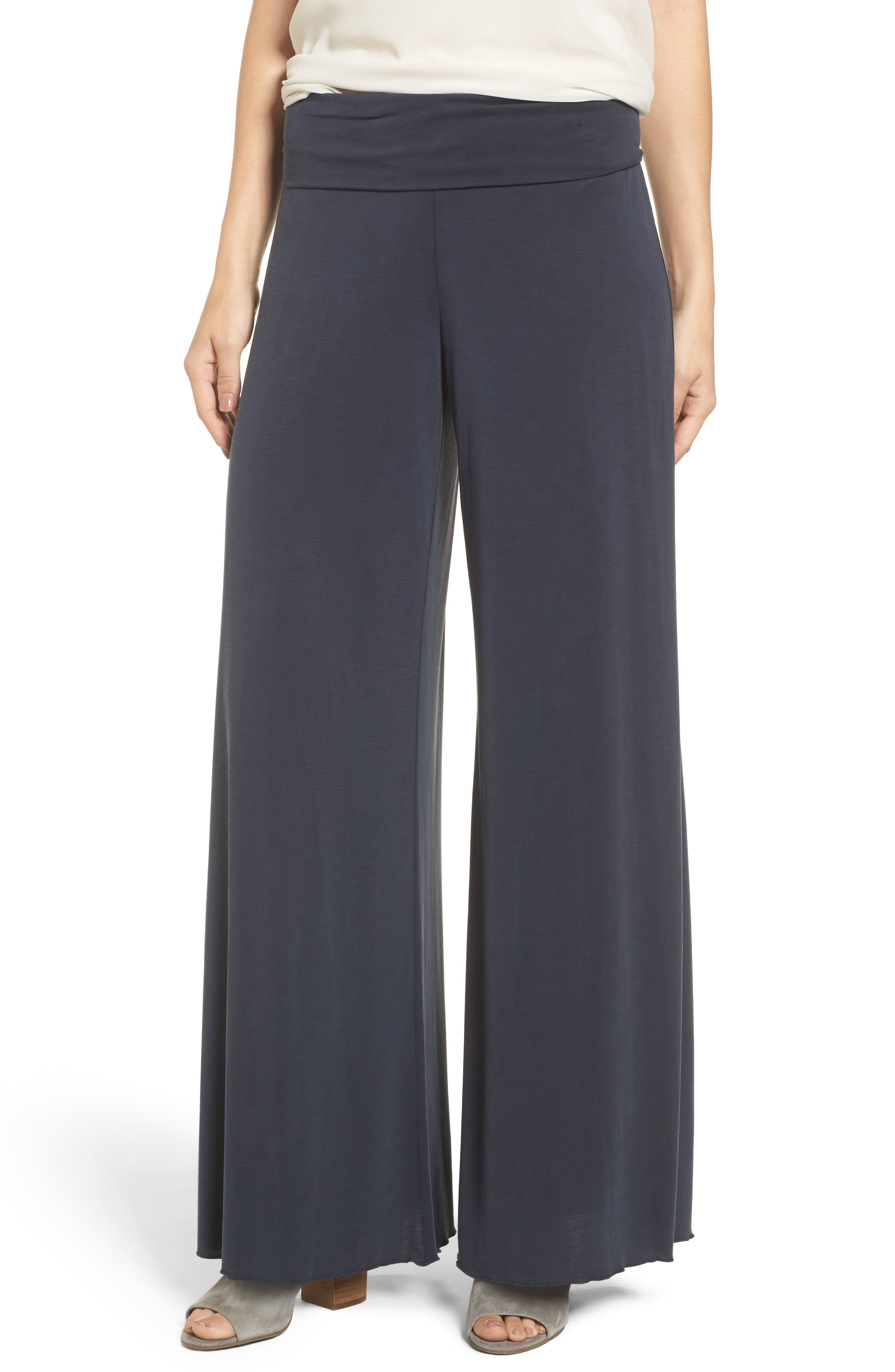 Seasonless Wide Leg Pants,                         Main,                         color, Washed Midnight